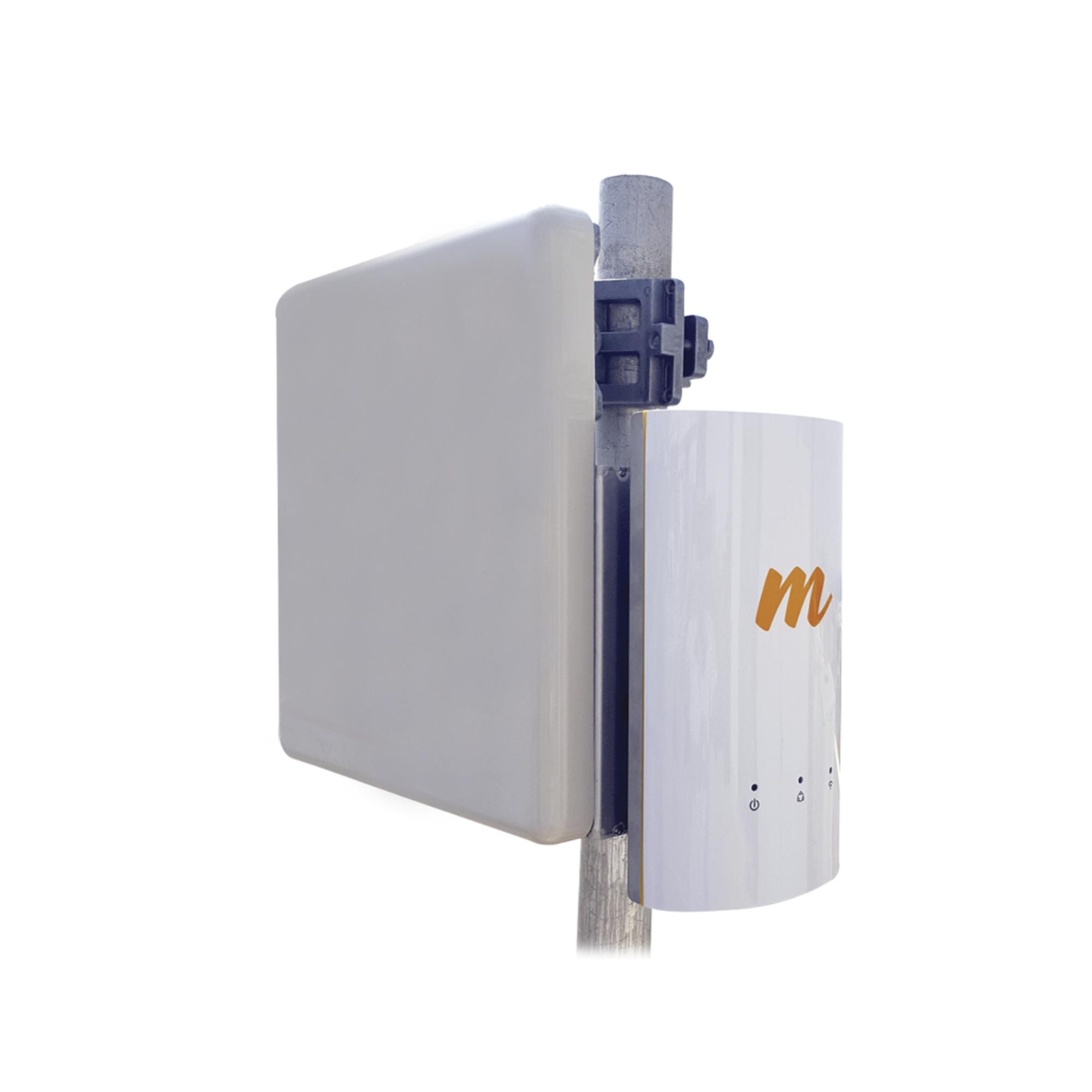 Kit de Radio A5c con antena tipo panel de 19 dBi y 60? de apertura, 1.5 Gbps, Frecuencia de 4.9 a 6 GHz, ideal para distancias de hasta 6 km, Jumpers incluidos