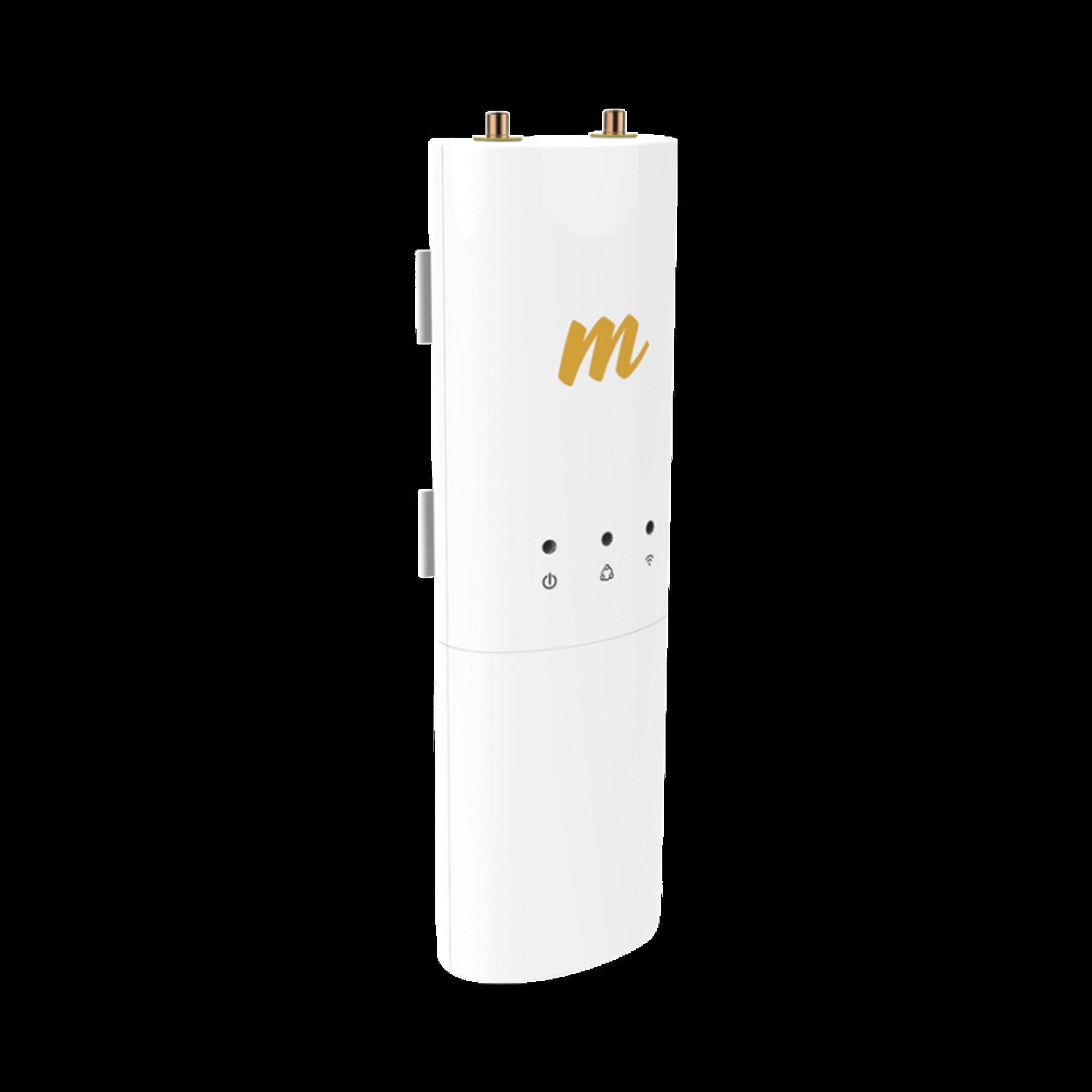 Radio modular hasta 500 Mbps de 4.9-6.4 GHz, IP55, 2x2:2 MIMO, Monitoreo a traves de la nube, Adaptacion automatica al entorno.