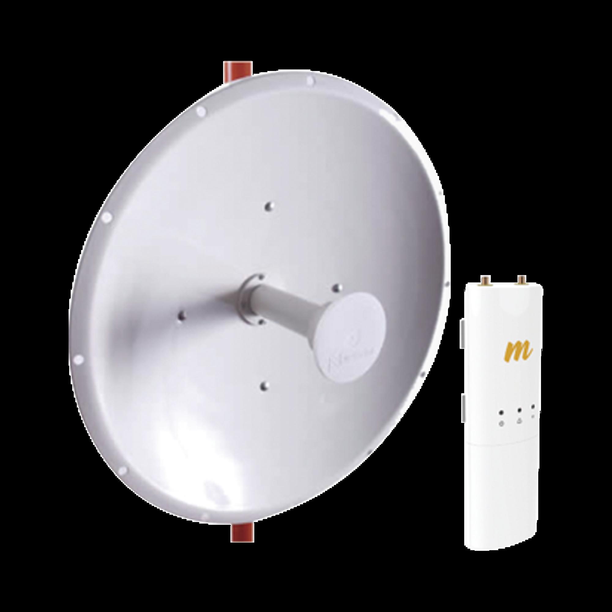Kit de radio C5C-L con Antena de 37 dBi, Frecuencia (4.9-6.5 GHz), ideal para distancia de hasta 100 km.