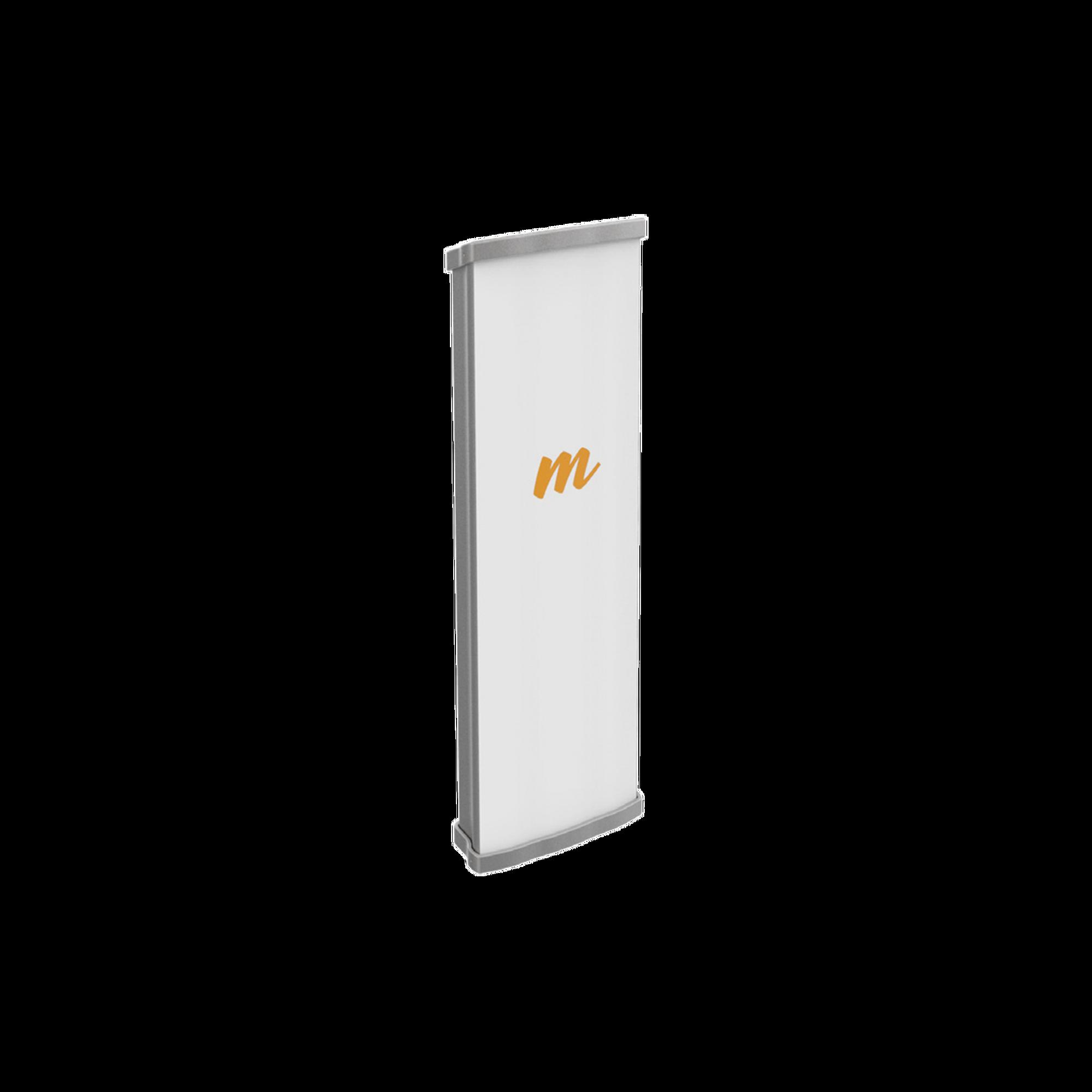Antena Sectorial MIMO 2X2 de 45?, 4.9 - 6.4 GHz, Ganacia de 19 dBi, IP55, 2 Conectores N-hembra, Montaje incluido