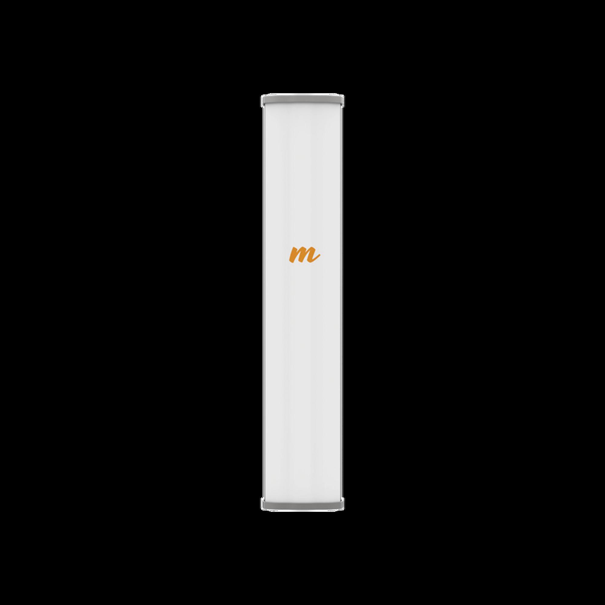 Antena Sectorial MIMO 4X4 de 45 ?,  4.9 - 6.4 GHz, IP55, Ganancia de 22 dBi, 4 Conectores N-hembra, Montaje incluido.