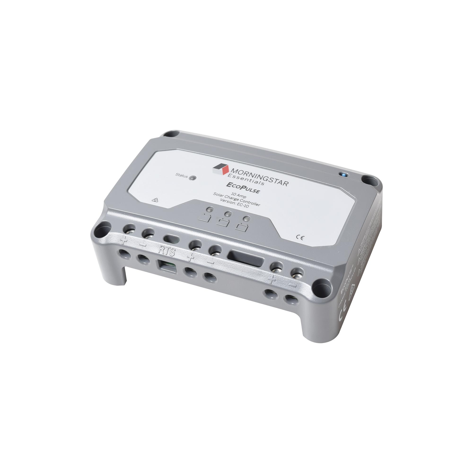 Controlador solar 12/24 Vcd de 10 Amp. Sin pantalla de medición.
