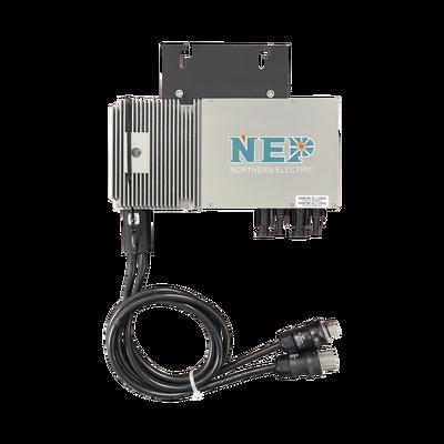 Microinversor 600W para Interconexión a Red Eléctrica 110 Vca, IP67 con Cable Troncal Incluido