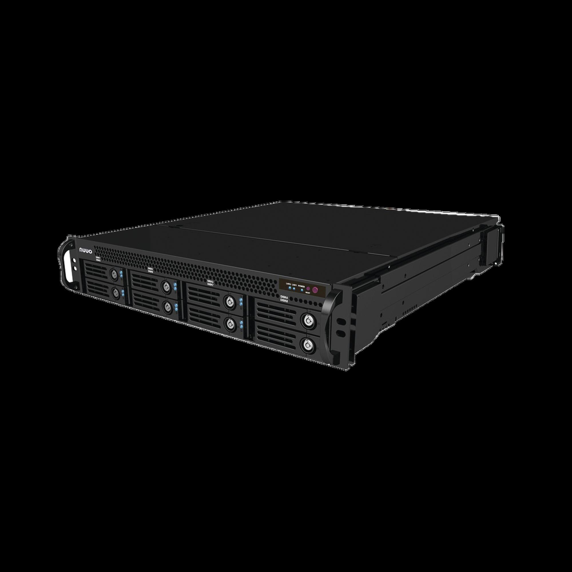 NVR Mainconsole hasta 64 canales, 8 bahías, incluye 25 licencias