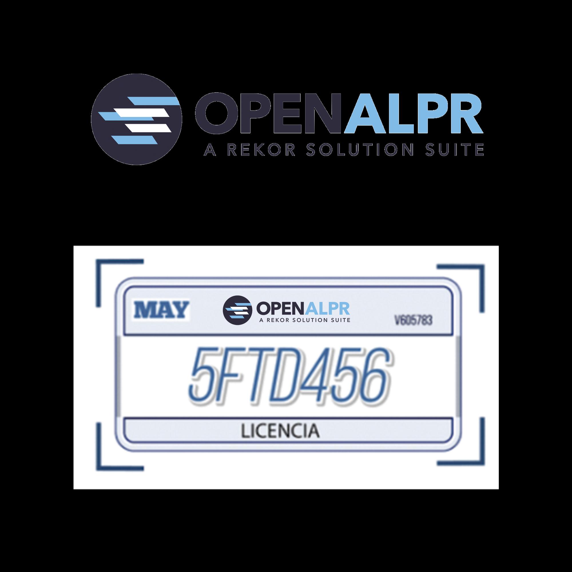 Licencia anual de mantenimiento y actualización de software OpenALPR / por cámara