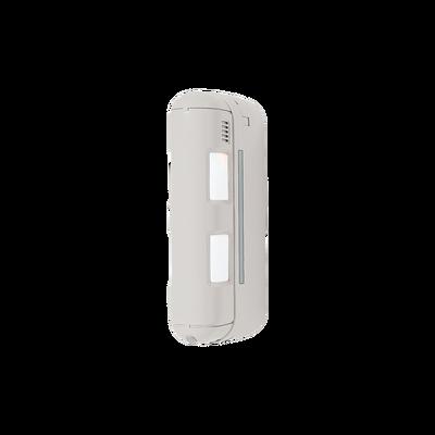 Detector de movimiento inalámbrico de doble cobertura, ideal para lugares angostos, fachadas o generar bardas virtuales hasta 24 metros