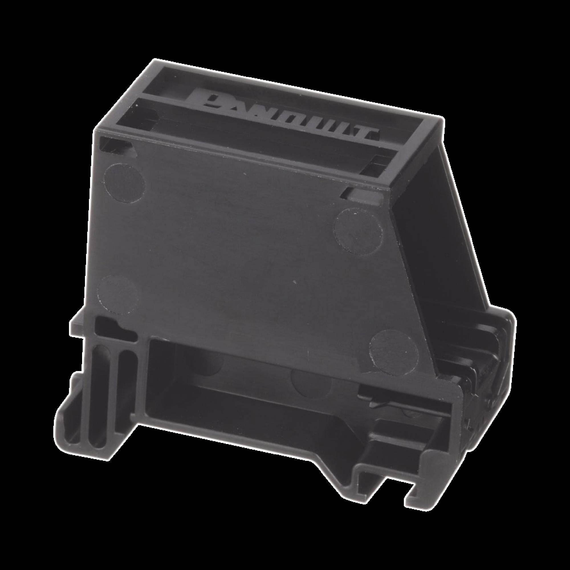 Adaptador de 1 Puerto, Para Conectores Tipo Mini-Com, Montaje en Riel Din Estándar de 35mm, Color Negro