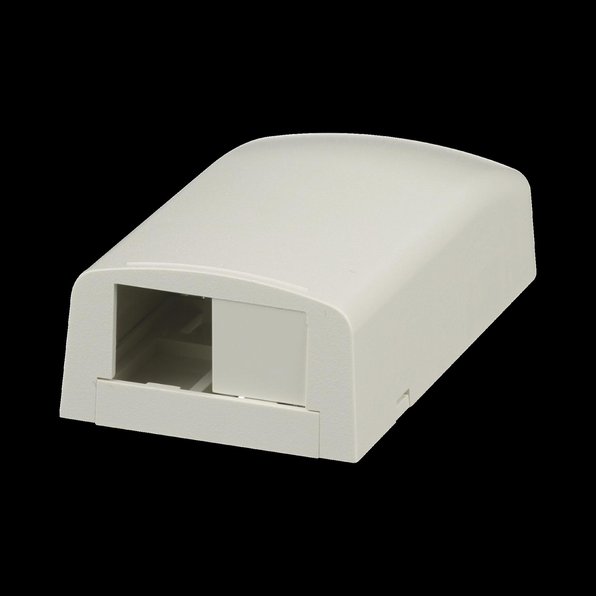 Caja de Montaje en Superficie, Para 2 Módulos Mini-Com, Color Blanco Mate