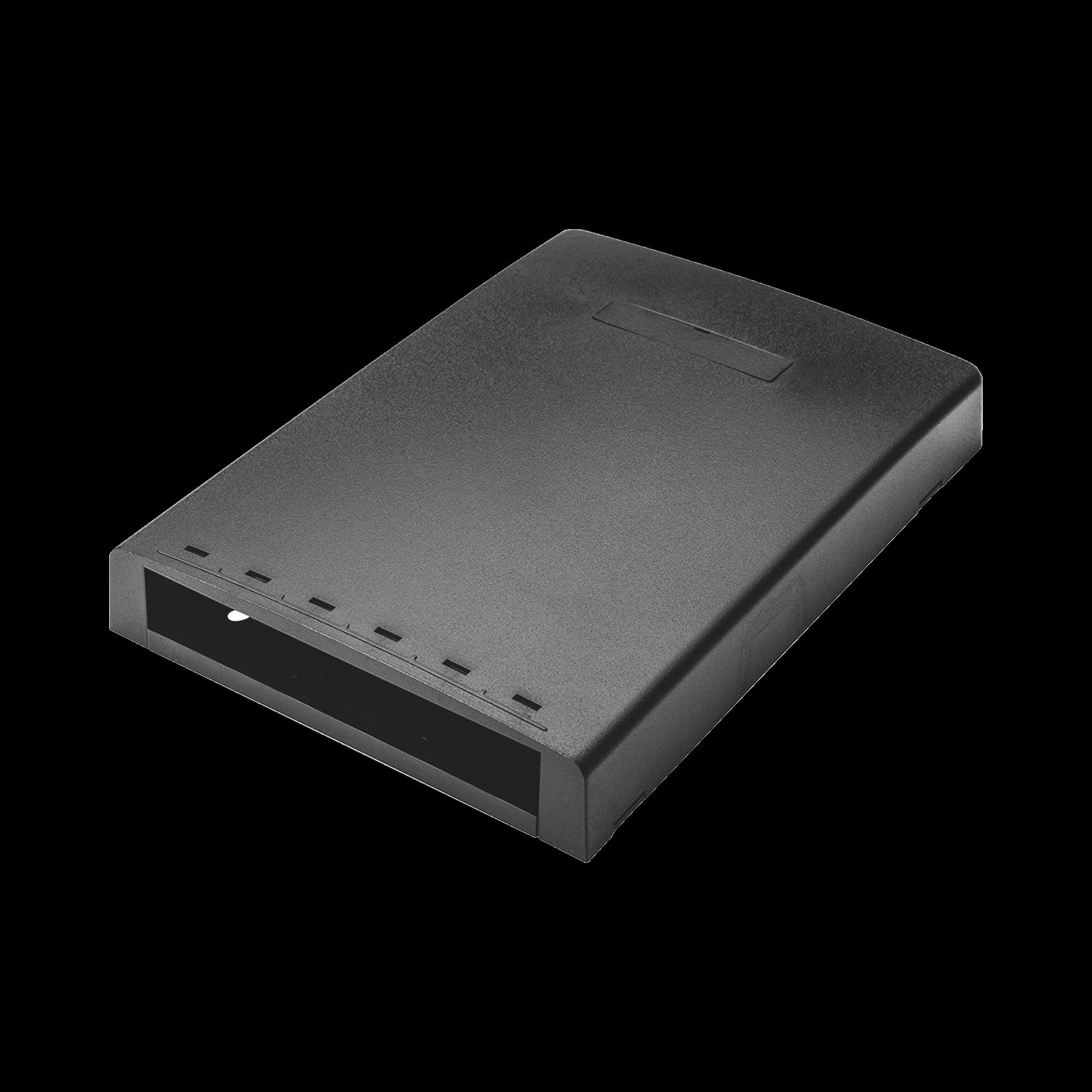 Caja de Montaje en Superficie, Con Accesorio para Resguardo de Fibra optica, Para 6 Modulos Mini-Com, Color Negro