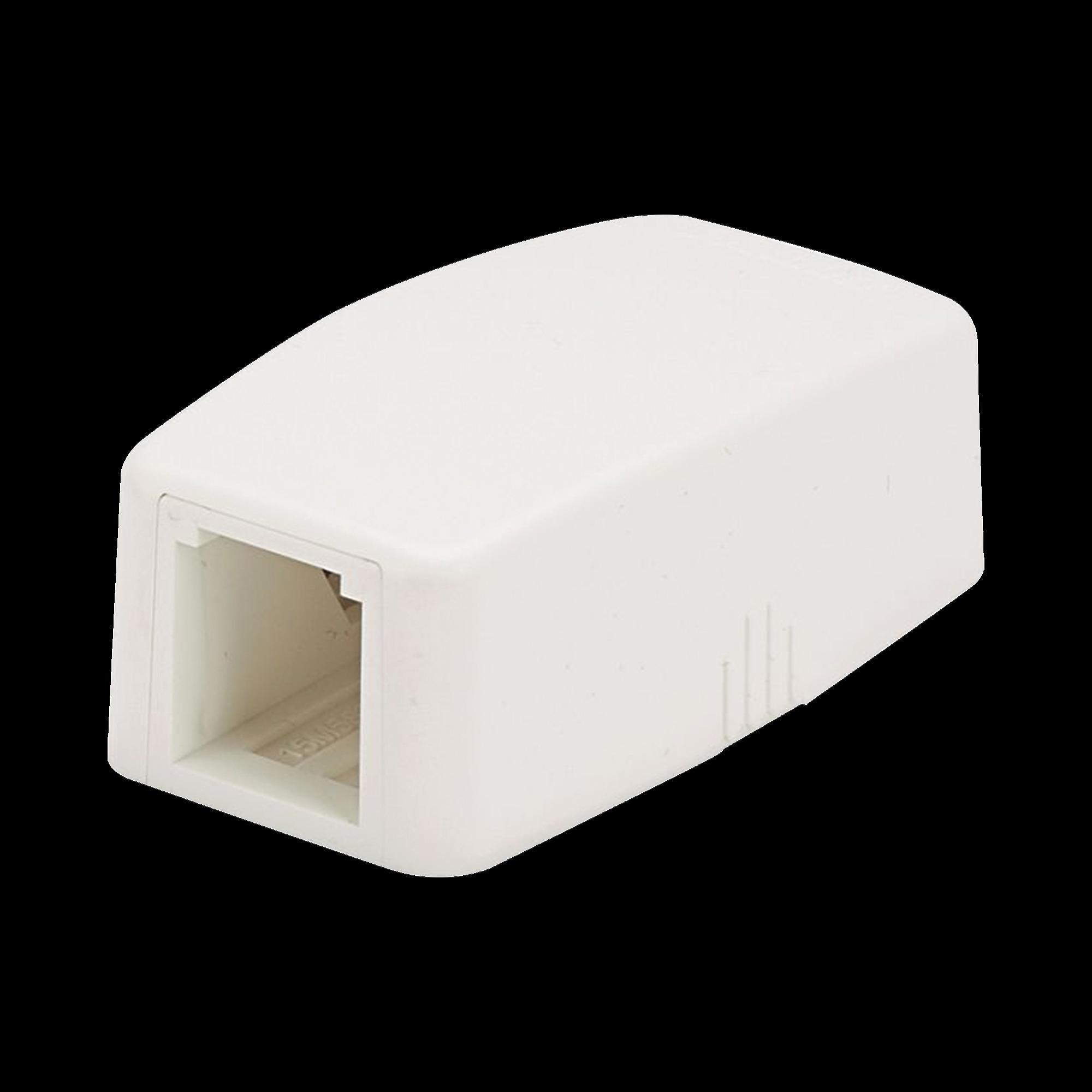 Caja de Montaje en Superficie, Para 1 Modulo Mini-Com, Color Blanco Mate