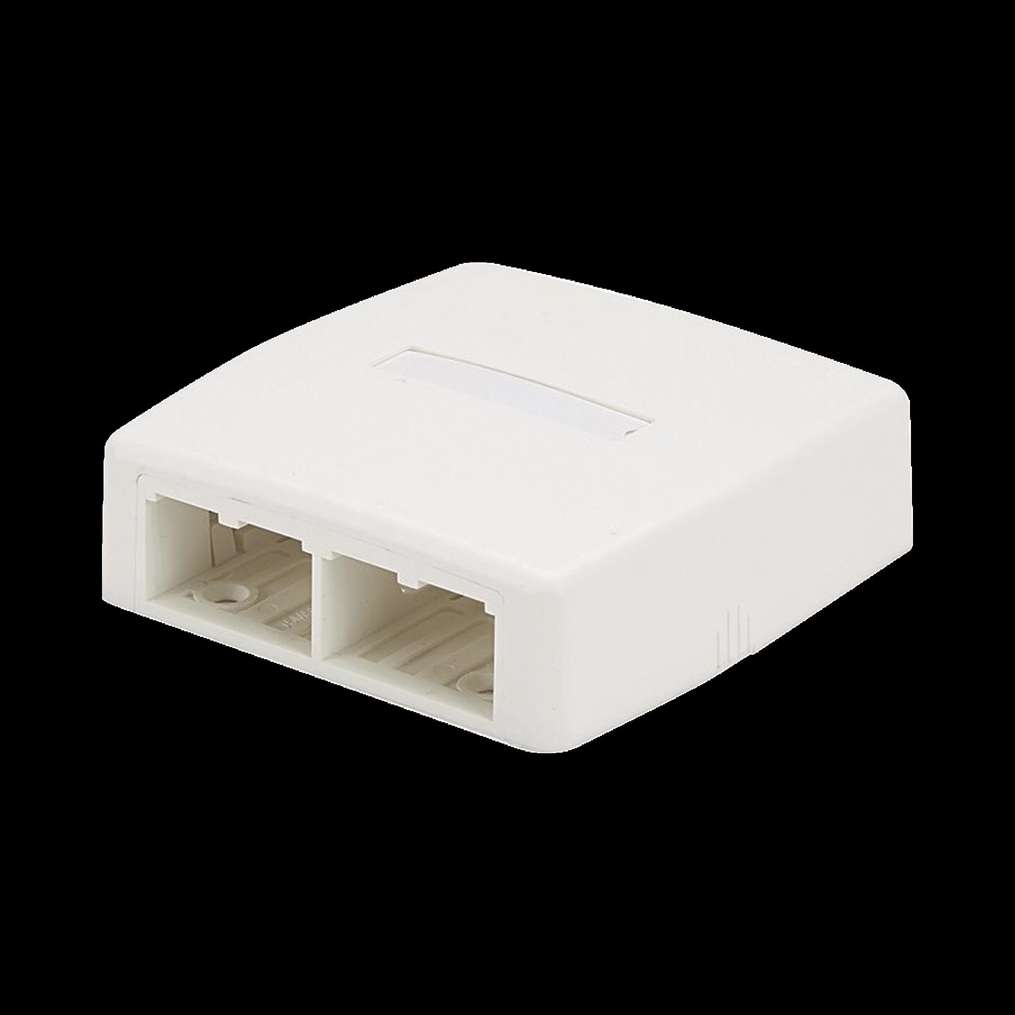 Caja de Montaje en Superficie, Para 4 Módulos Mini-Com, Color Blanco Mate
