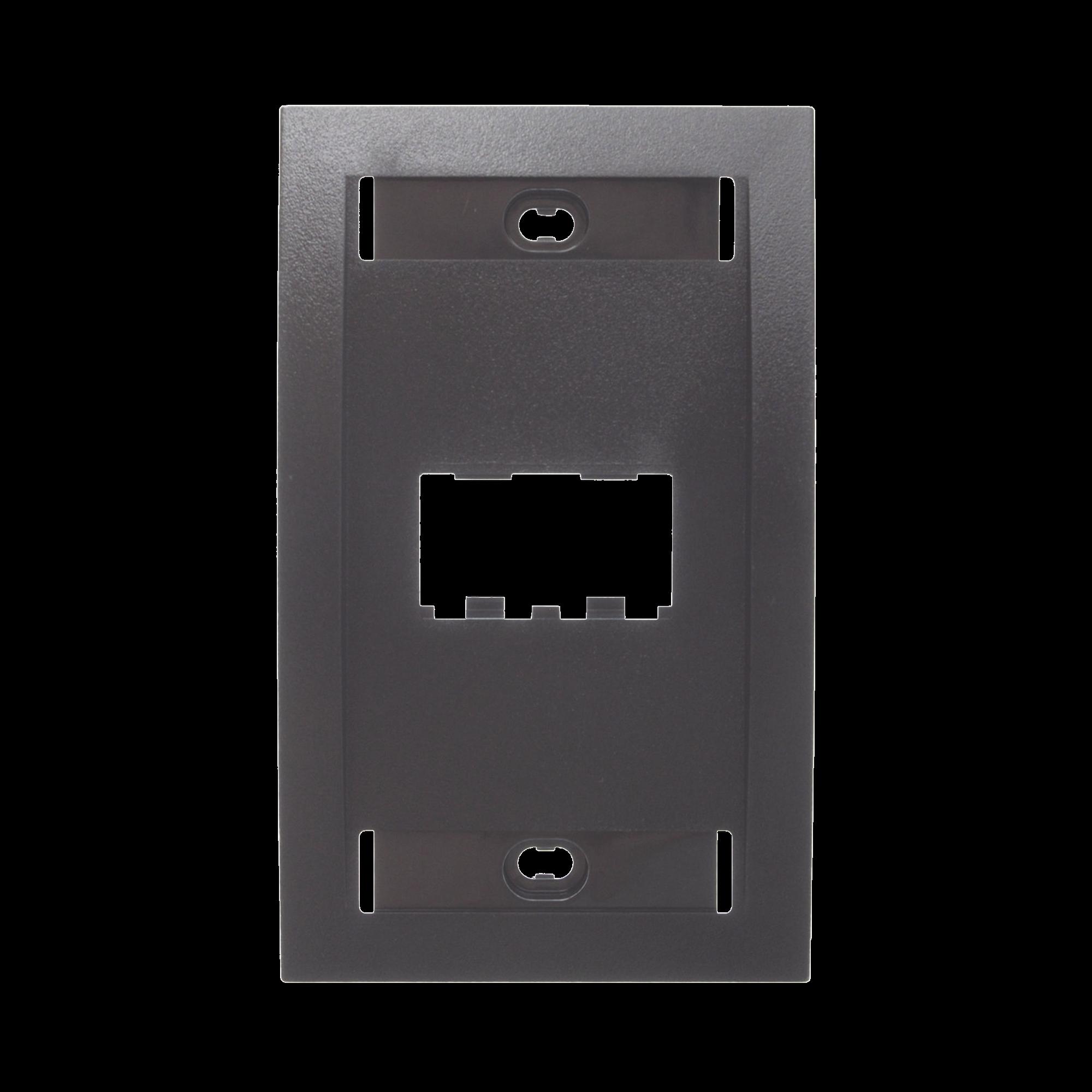 Placa de Pared Vertical Ejecutiva, Salida de 2 Puertos Mini-Com, Con Espacios Para Etiquetas, Color Negro