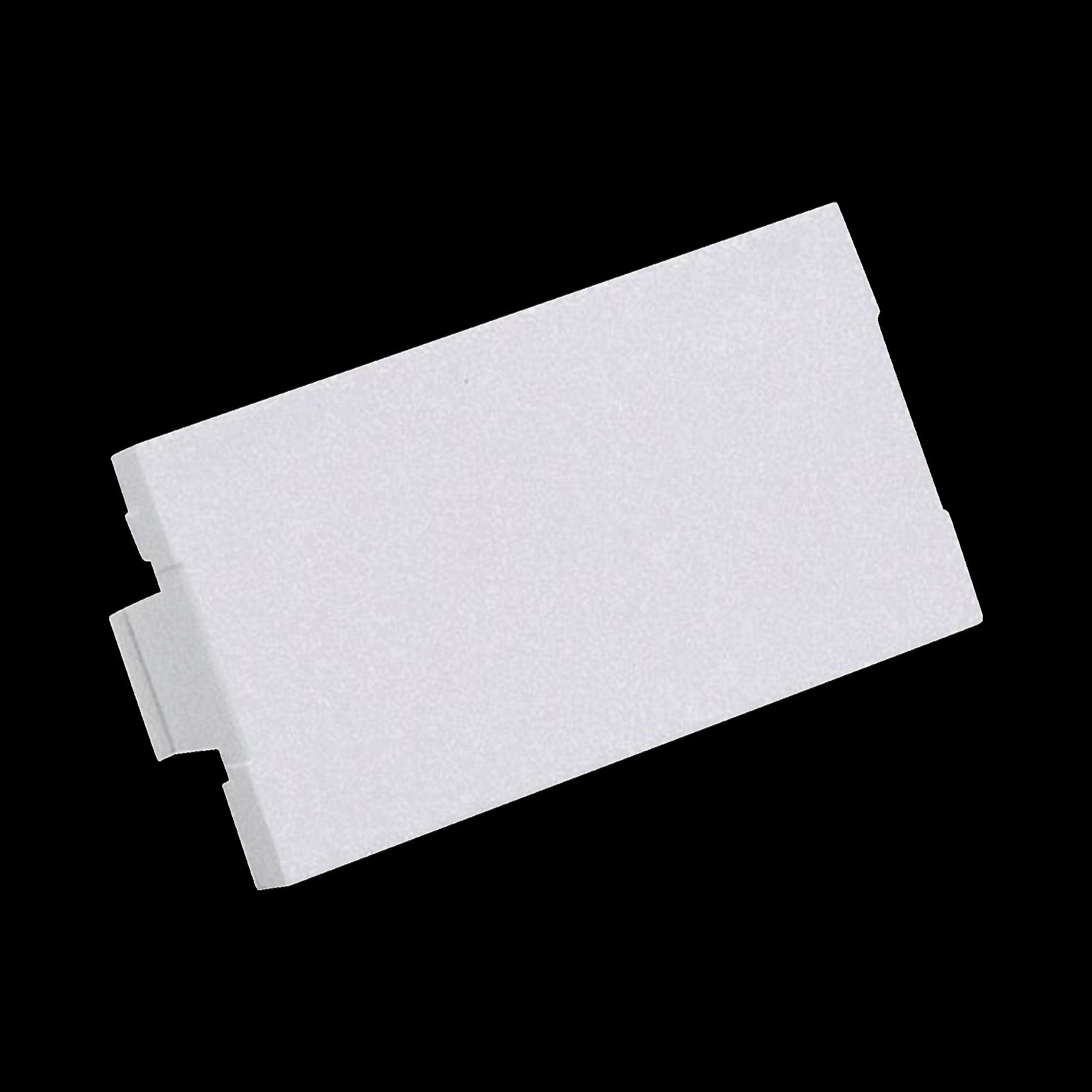 Módulo de tapa ciega (Inserto Ciego), de 1/3, Color Blanco Mate