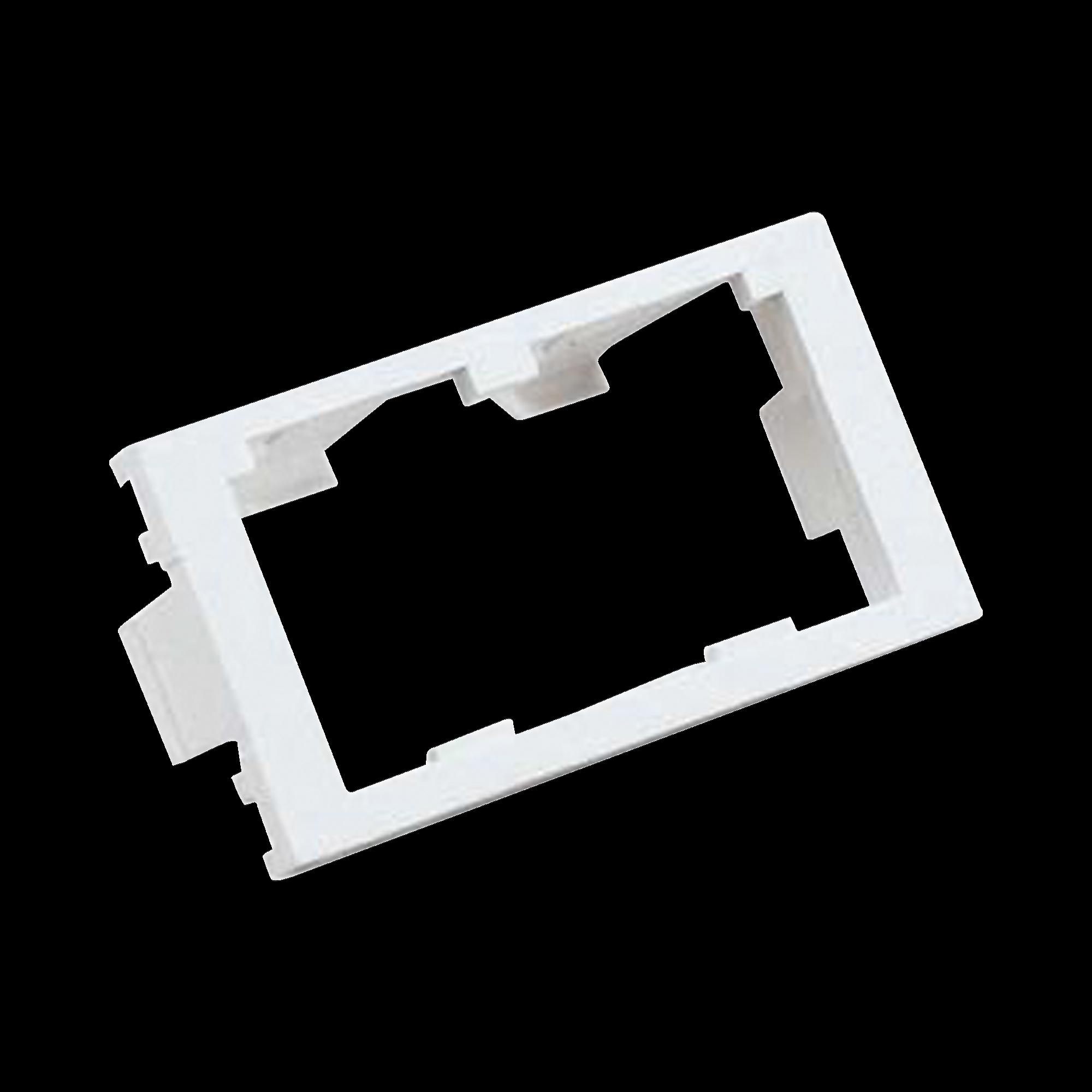 Inserto Plano de 1/3, Espacio para Dos Modulos Mini-Com?, Color Blanco Mate