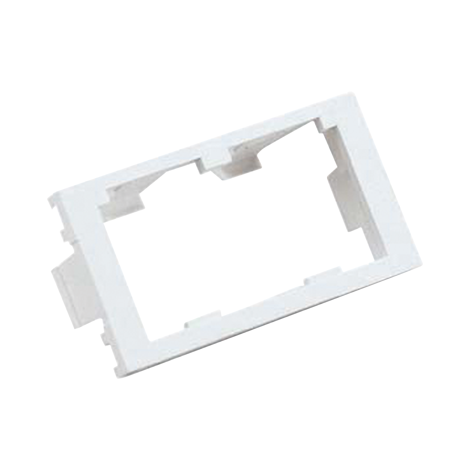 Inserto Plano de 1/3, Espacio para Dos Módulos Mini-Com?, Color Blanco Mate