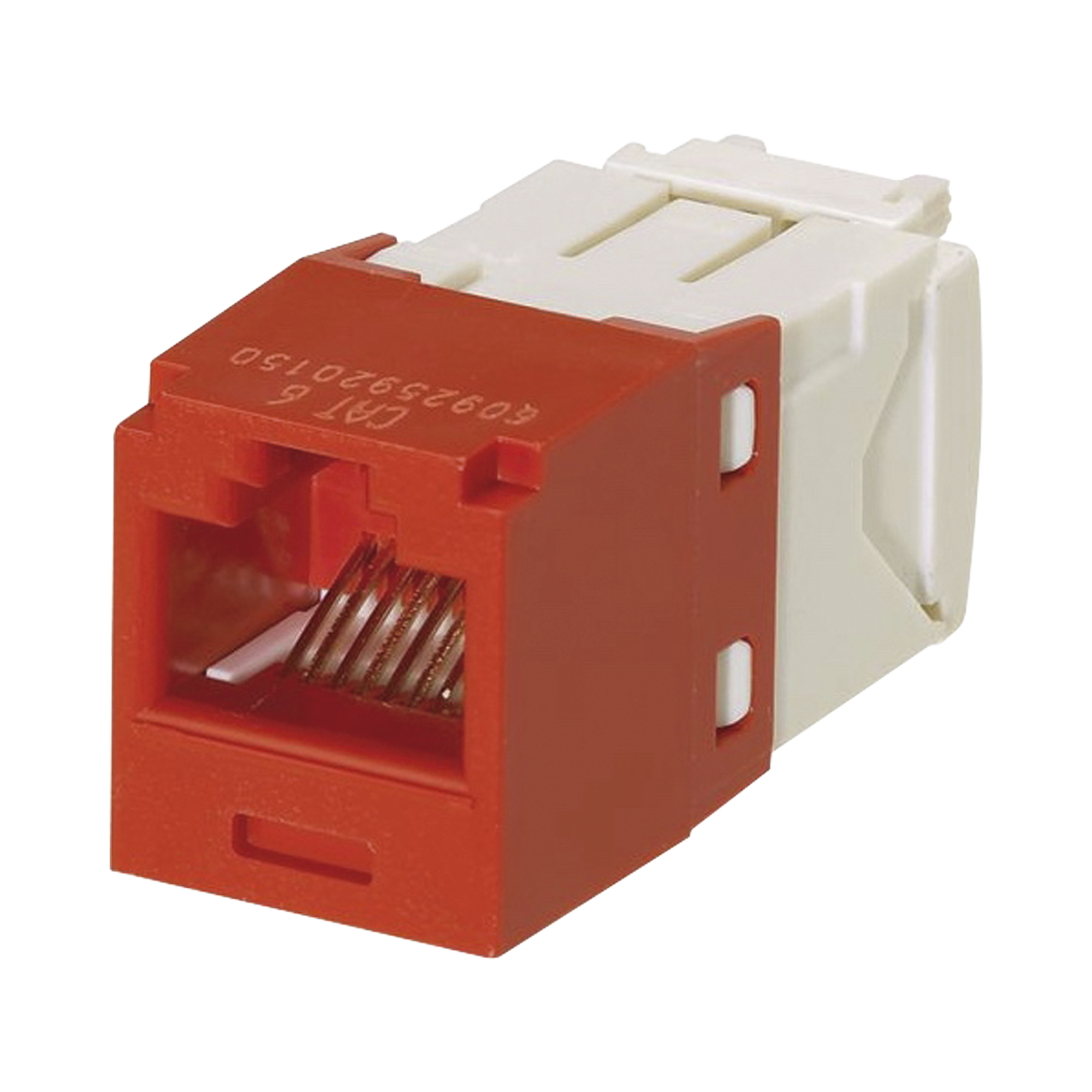 Conector Jack RJ45 Estilo TG, Mini-Com, Categoría 6, de 8 posiciones y 8 cables, Color Rojo