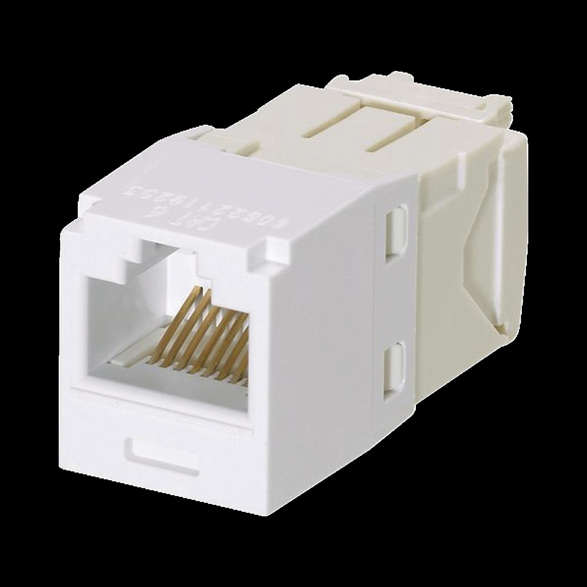 Conector Jack RJ45 Estilo TG, Mini-Com, Categoría 6, de 8 posiciones y 8 cables, Color Blanco