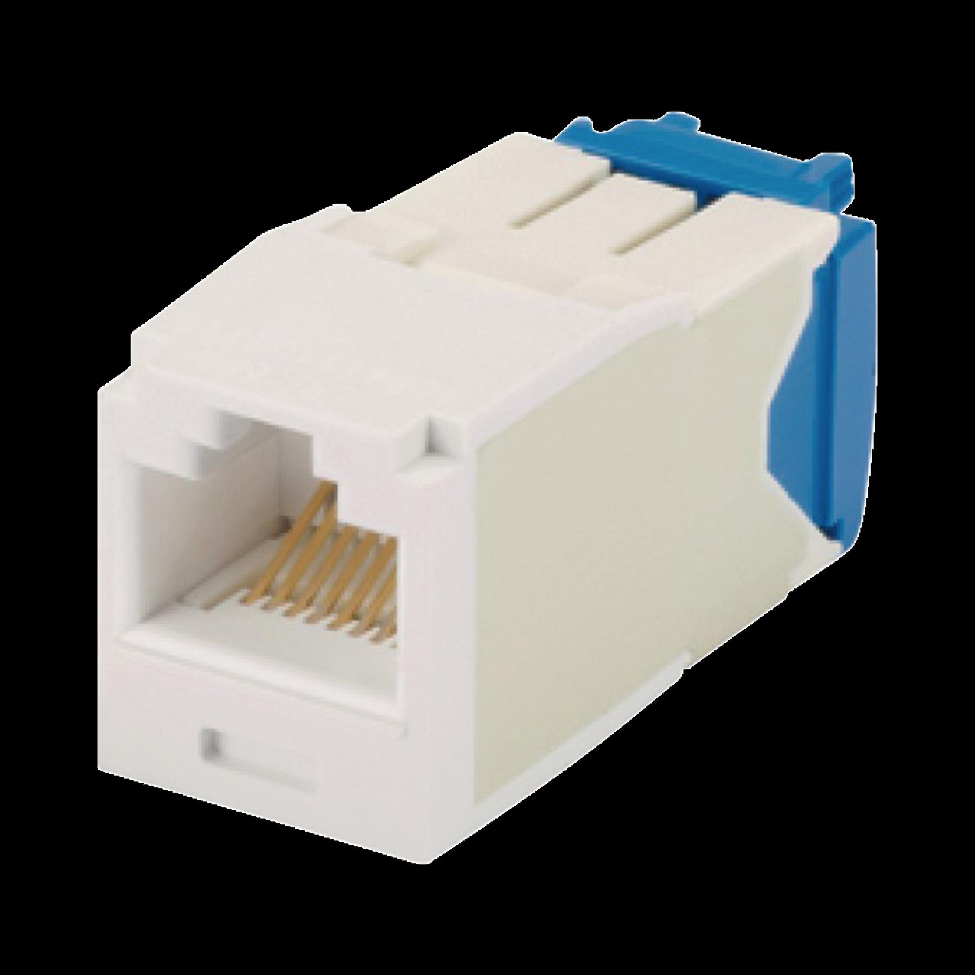 Conector Jack RJ45 Estilo TG, Mini-Com, Categoría 6A, de 8 posiciones y 8 cables, Color Blanco