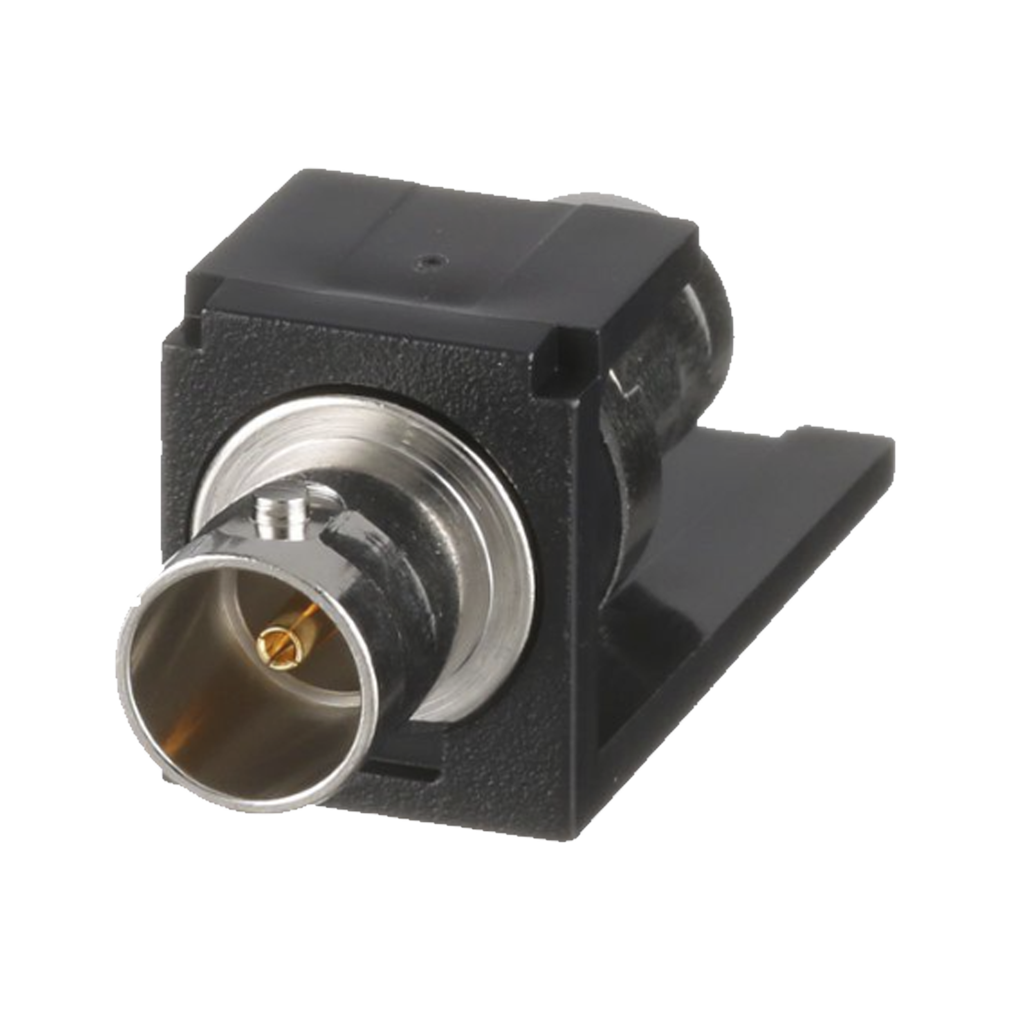 Módulo Acoplador Coaxial Tipo BNC, Mini-Com, de 75 Ohms, Color Negro