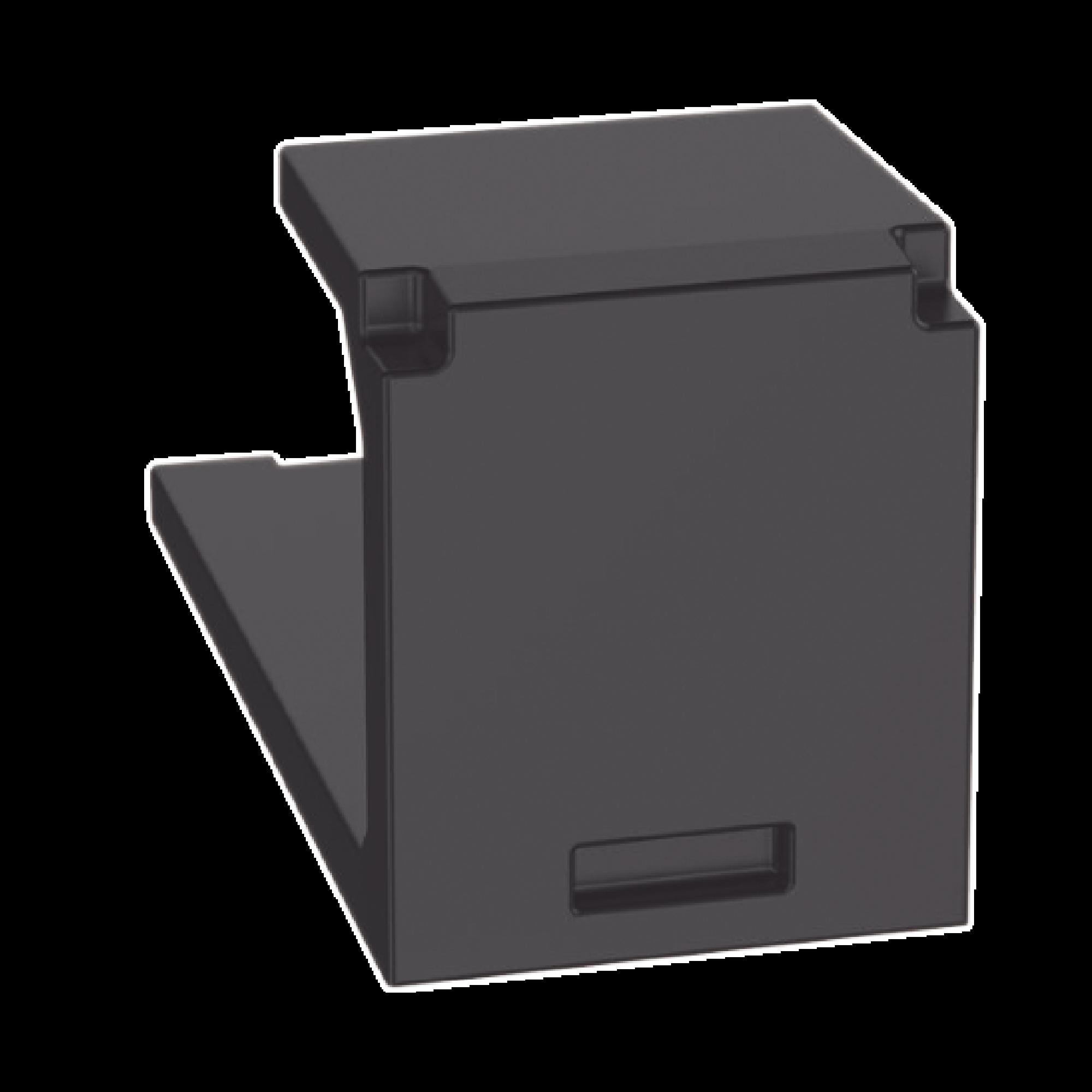 Módulo de tapa ciega (Inserto Ciego), Mini-Com, Color Negro