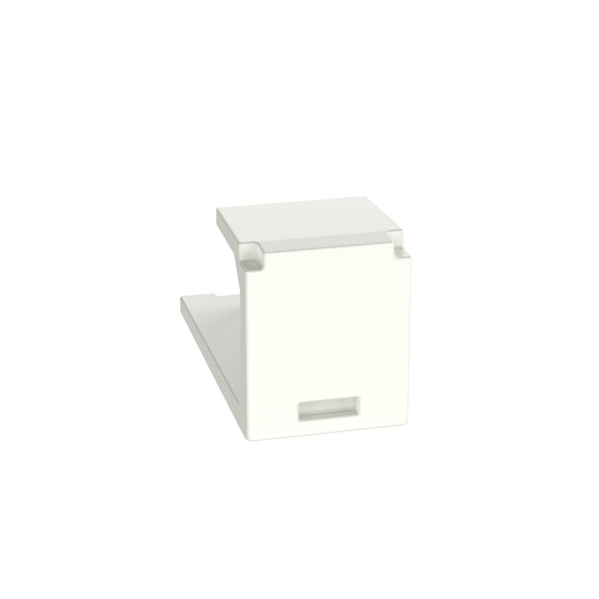 Módulo de tapa ciega (Inserto Ciego), Mini-Com, Color Blanco Mate
