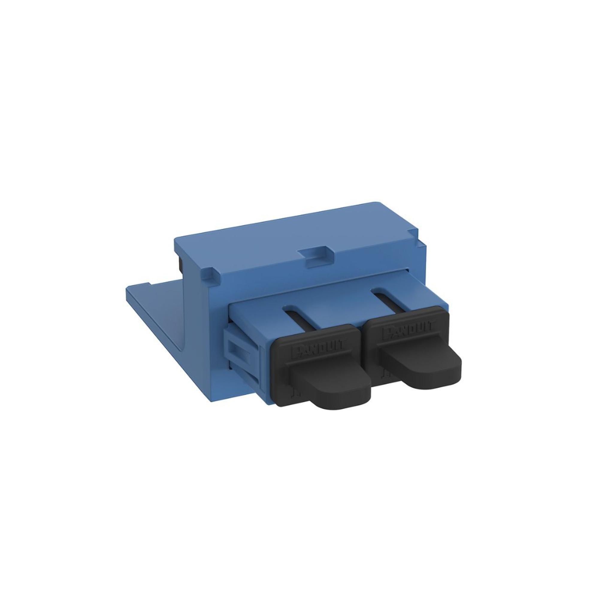 Módulo Acoplador SC Duplex, para Fibra óptica Monomodo OS1/OS2, Tipo Mini-Com, Color Azul