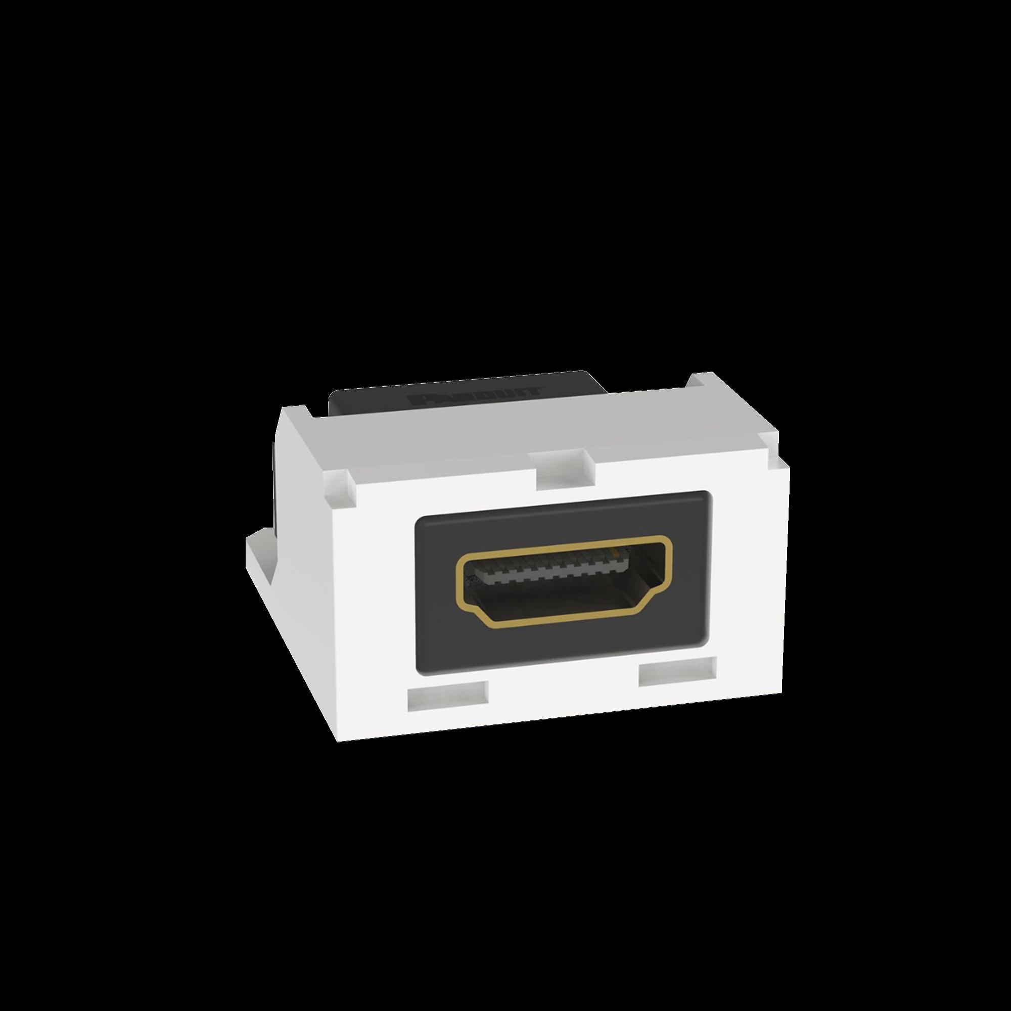 Modulo Acoplador HDMI 2.0, Hembra a Hembra Tipo-A, Categoria 2, Mini-Com, Color Blanco ártico