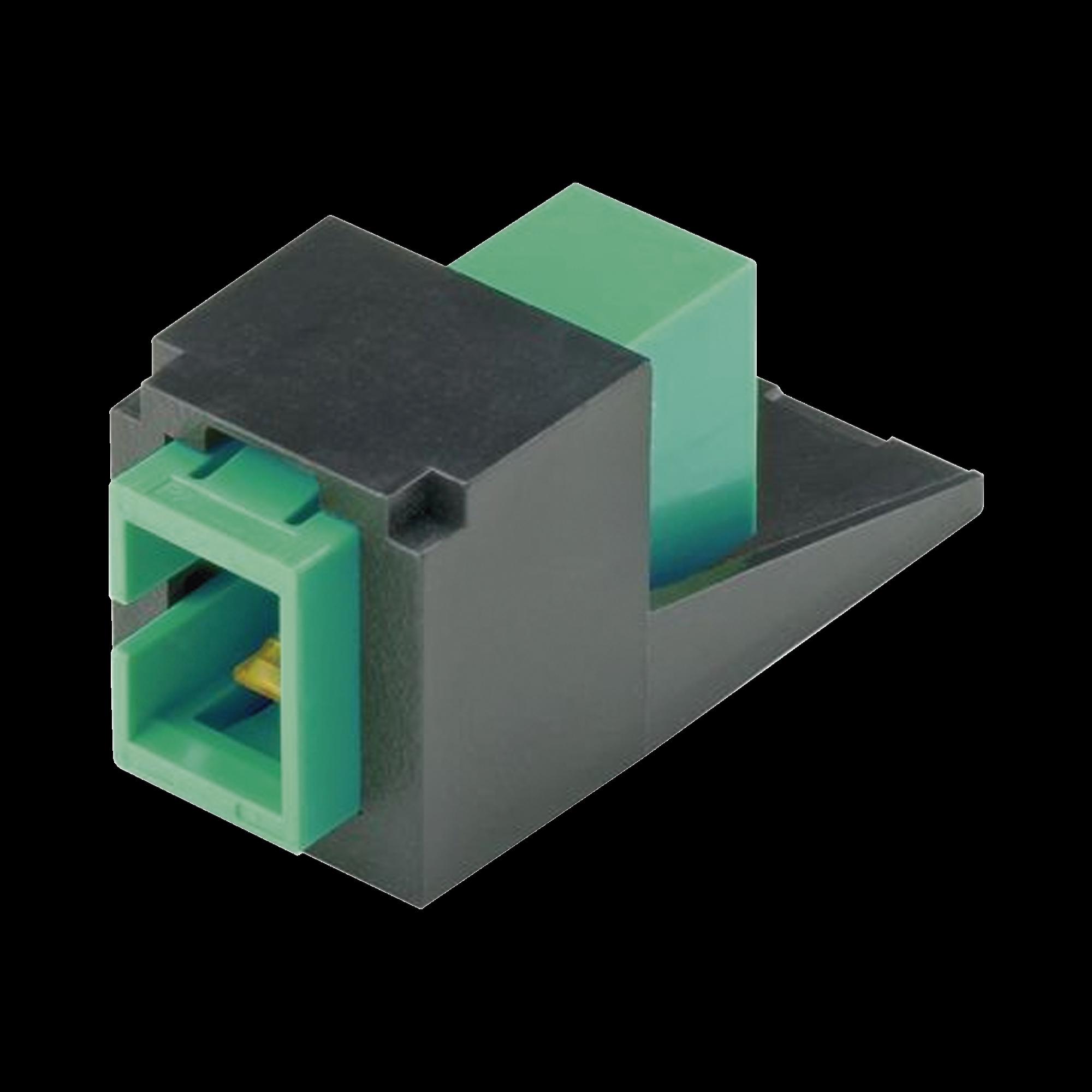 Módulo Acoplador SC/APC Simplex, para Fibra óptica Monomodo OS1/OS2, Tipo Mini-Com, Color Negro