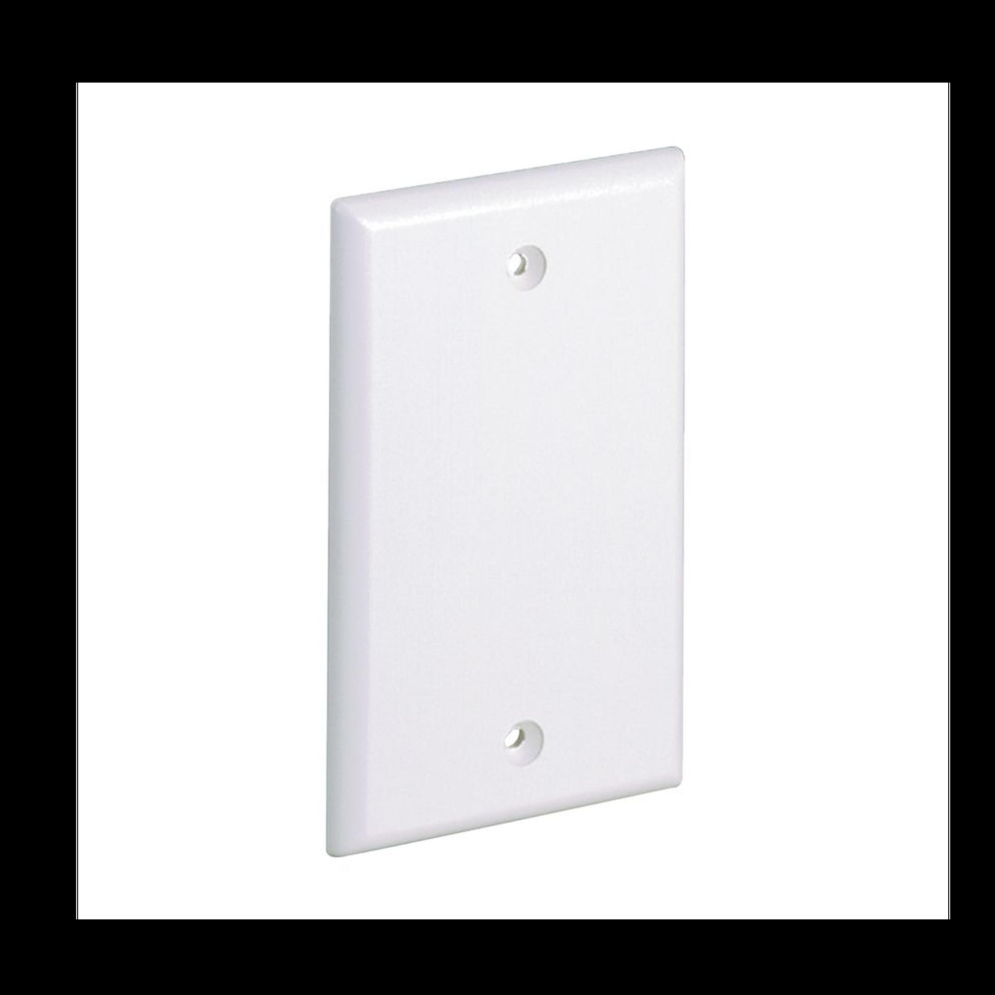 Placa de Pared Ciega Universal, Material ABS, Color Blanco Mate