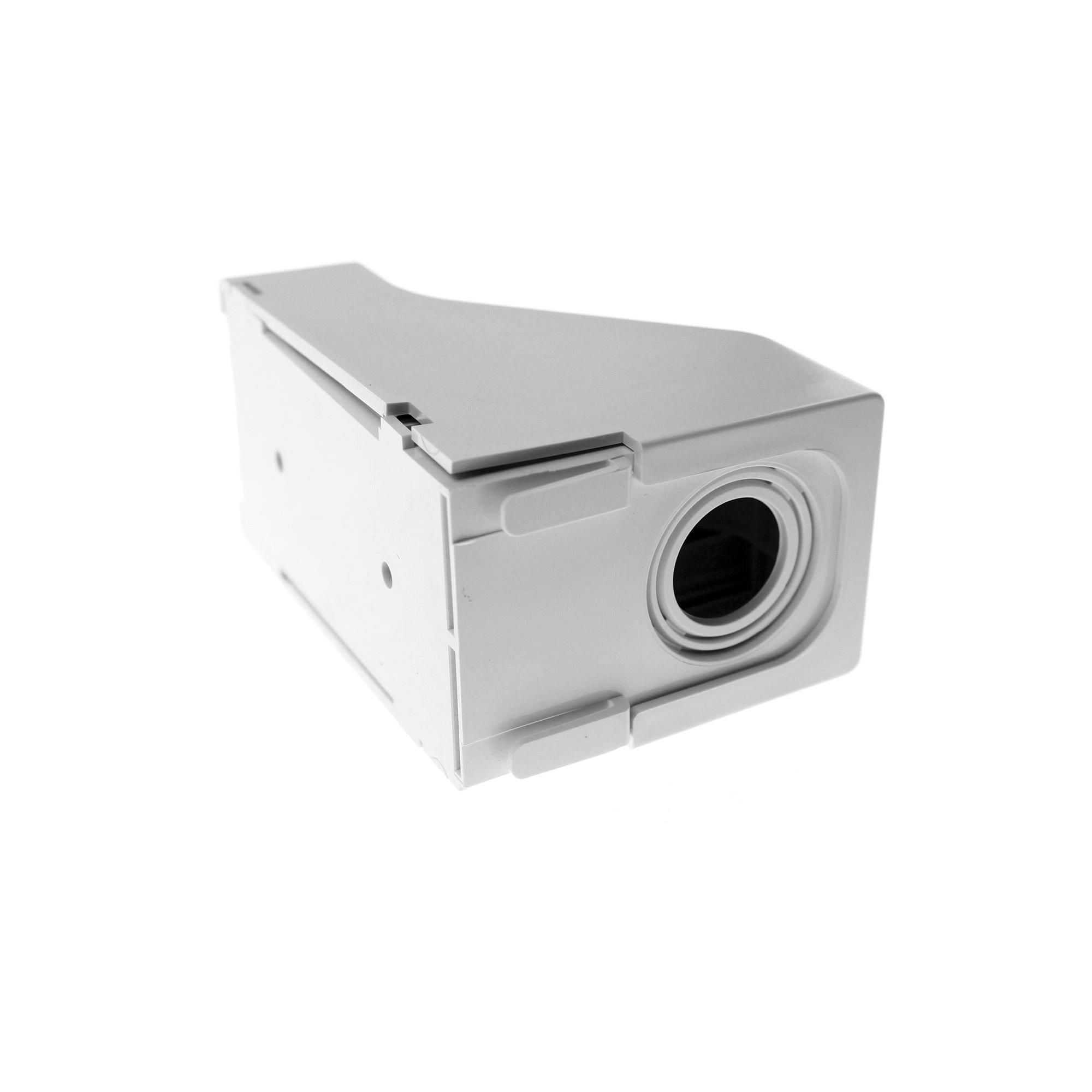 Accesorio Para Techo Falso/Entrada, Con Conexión Tubería 1/2 a 1 In, Compatible con Canaletas LD3, LD5 y LD10, Color Blanco Mate