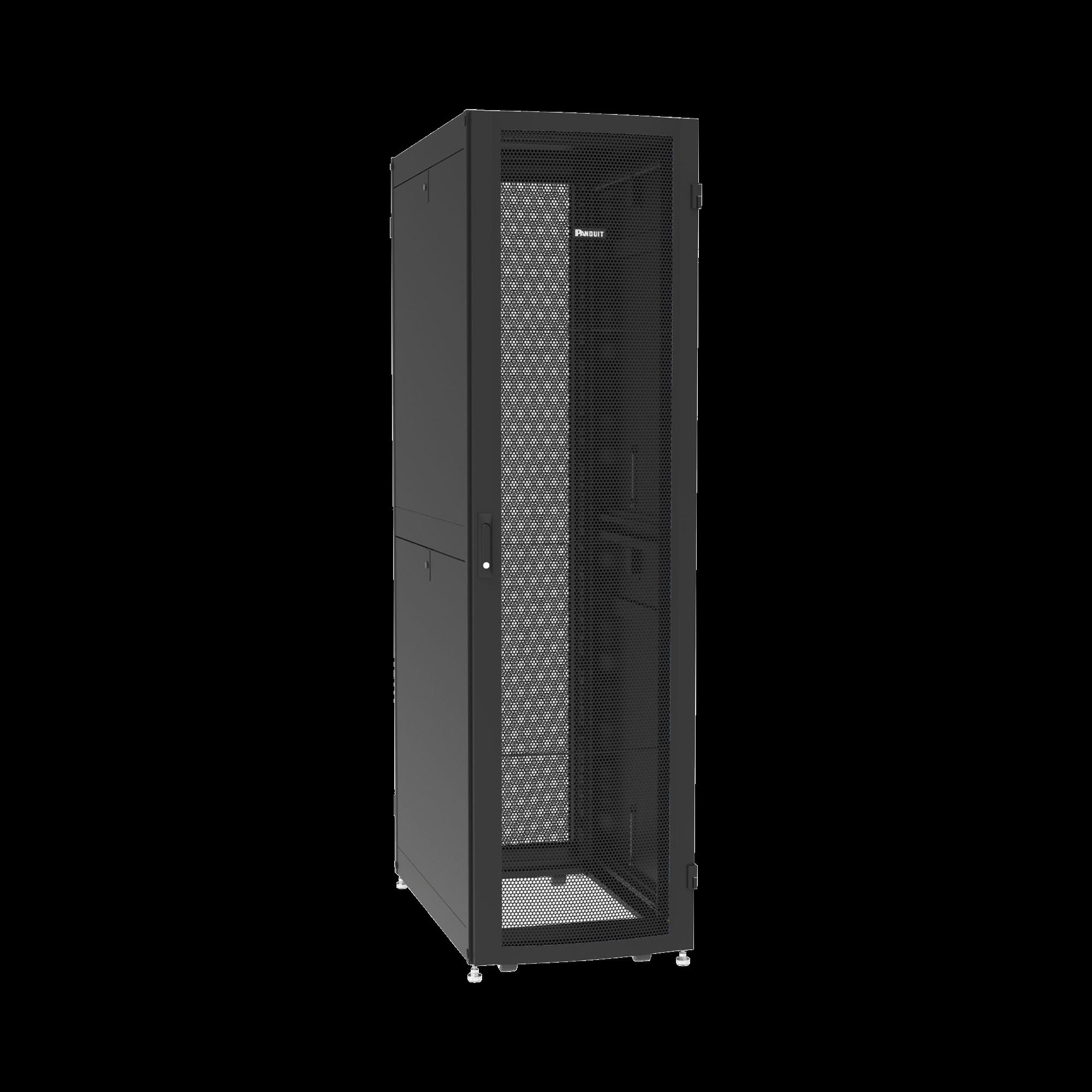 Gabinete Net-Verse para Centros de Datos, 42UR, 600mm de Ancho, 1200mm de Profundidad, Fabricado en Acero, Color Negro