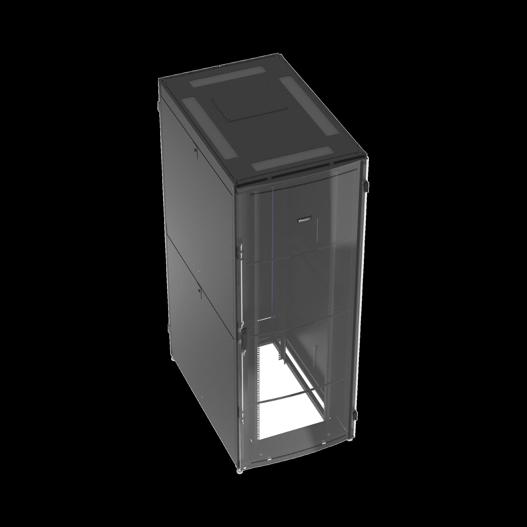 Gabinete Net-Verse para Centros de Datos, 45UR, 800mm de Ancho, 1200mm de Profundidad, Fabricado en Acero, Color Negro