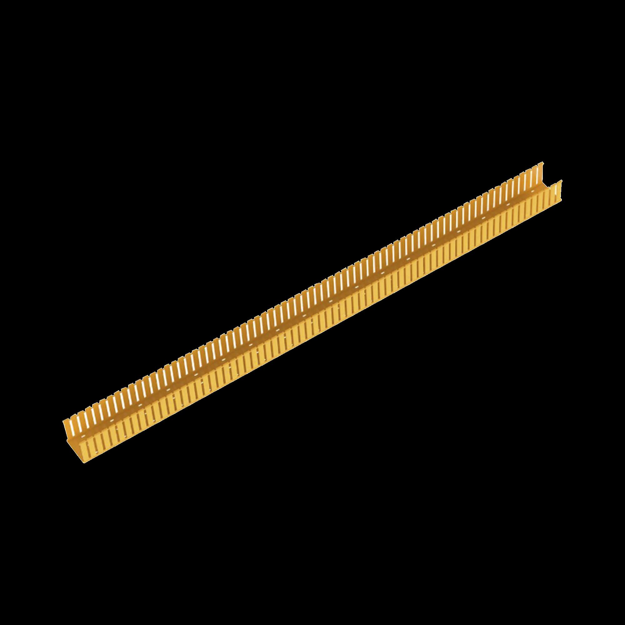 Canaleta Ranurada de PVC sin Tapa, Fiber-Duct?, 4 in de Ancho, 4 in de Alto y 1828.8 mm de Largo, Color Amarillo