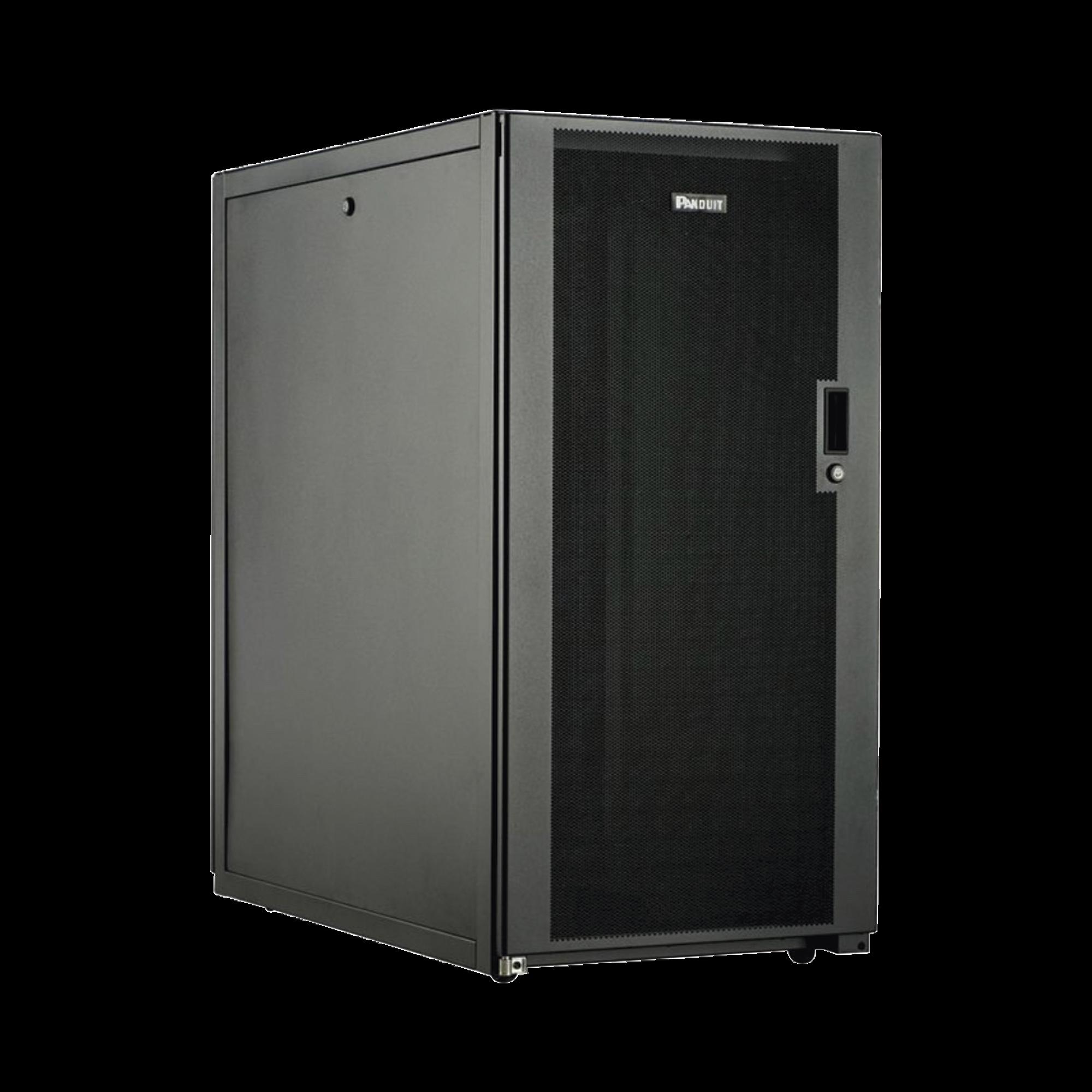 Gabinete Profesional de Telecomunicaciones, de Piso, 24 UR, 600 mm de Ancho y 1070 mm de Profundidad, Color Negro
