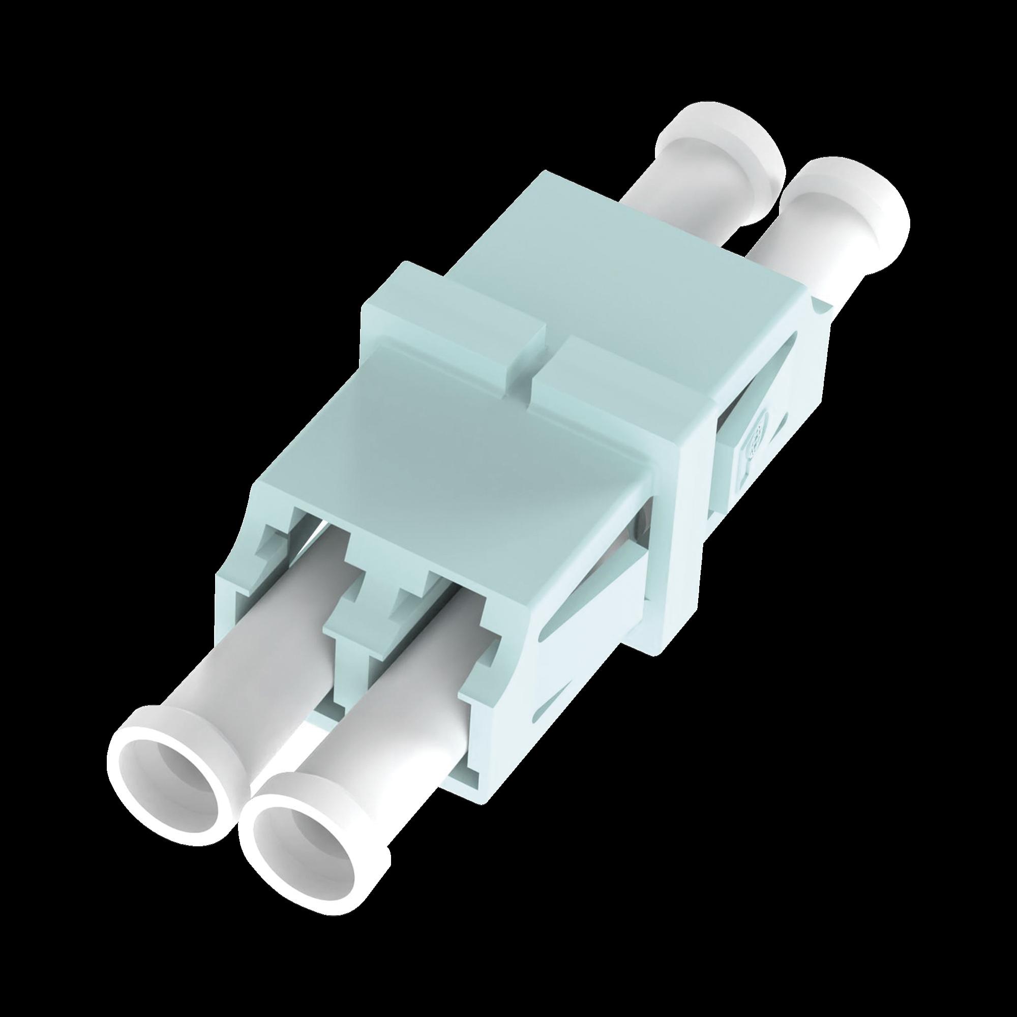 Módulo Acoplador LC Duplex, Para Fibra Multimodo, Color Aqua