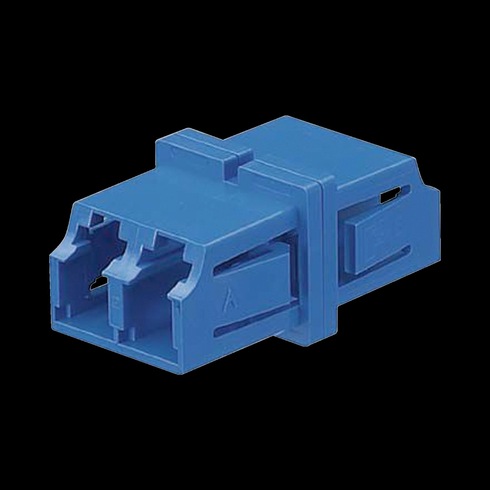 Módulo Acoplador LC Duplex, Para Fibra Monomodo, Color Azul