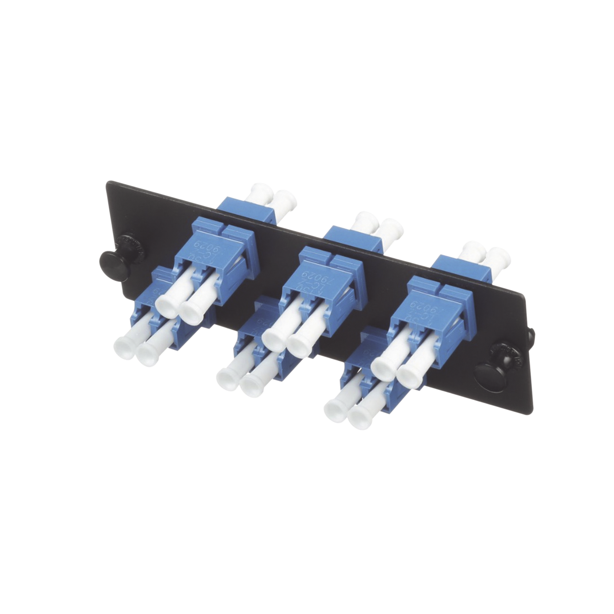 Placa Acopladora de Fibra Optica FAP, Con 6 Conectores LC Duplex (12 Fibras), Para Fibra Monomodo OS1/OS2, Color Azul