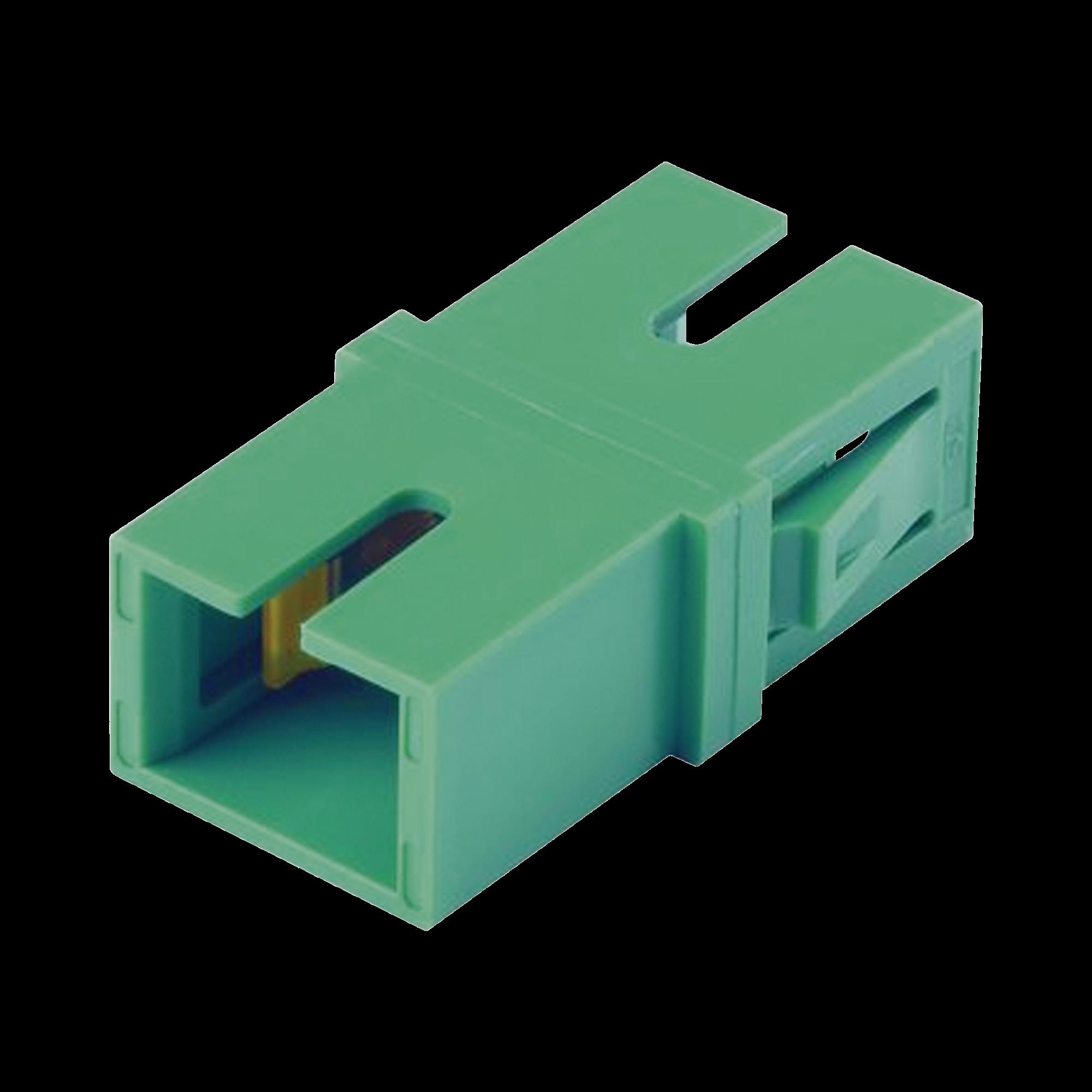 Módulo Acoplador SC/APC Simplex, Para Fibra Monomodo, Color Verde
