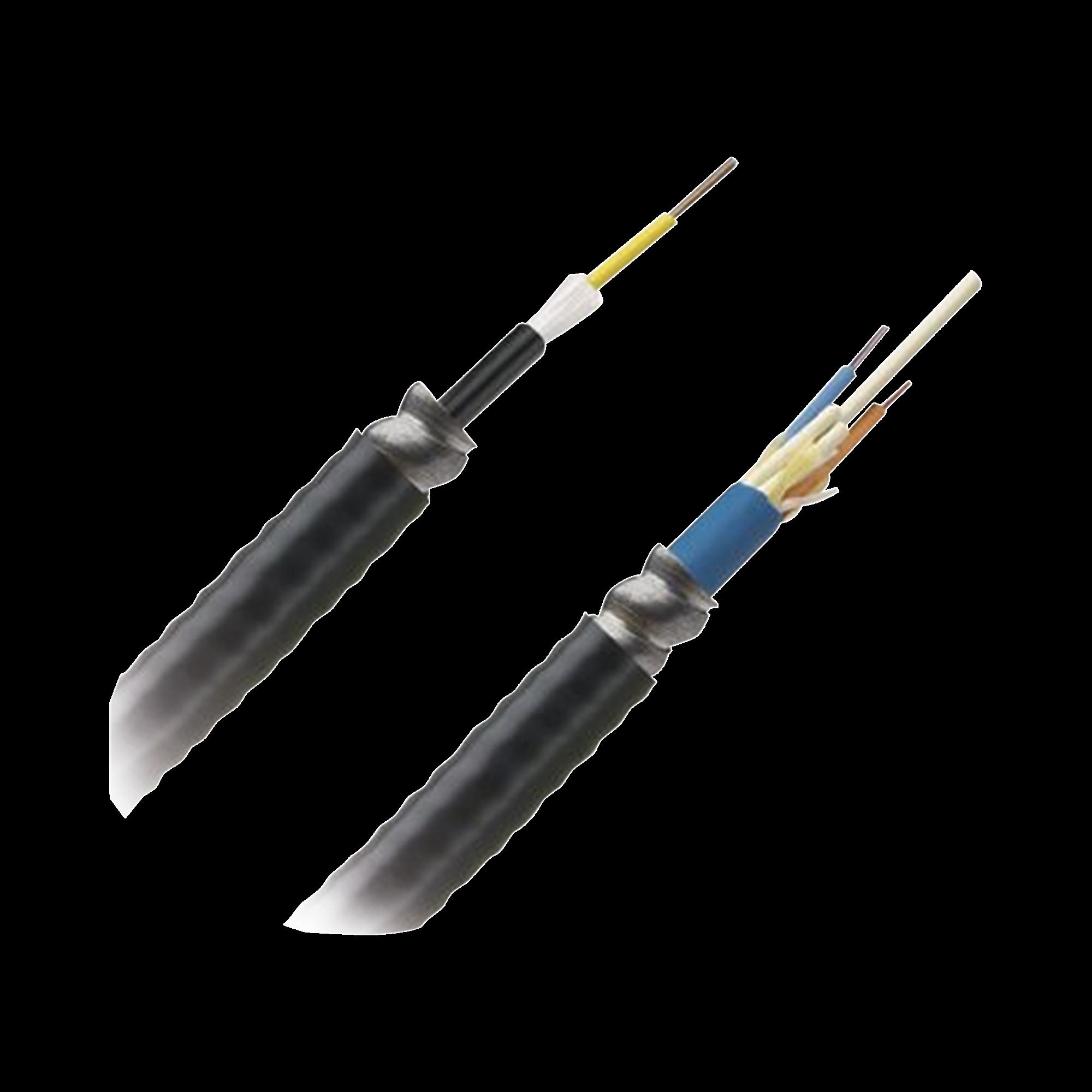 Cable de Fibra optica de 12 hilos, Multimodo OM4 50/125 Optimizada, Interior/Exterior, Armada, Loose Tube 250um, OFCR (Riser), Precio Por Metro