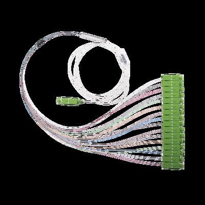 Divisor Óptico (Splitter) Tipo PLC, de 1x16, Con Conector de Entrada SC/APC y Conectores de Salida SC/APC