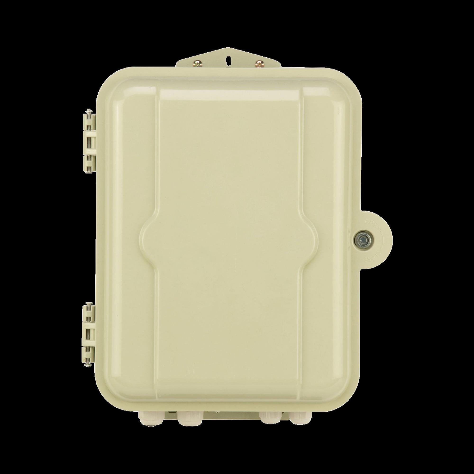 Gabinete Pasivo de Fibra óptica, Acepta Dos Placas FPONEAP12, IP55, Montaje en Poste o Pared