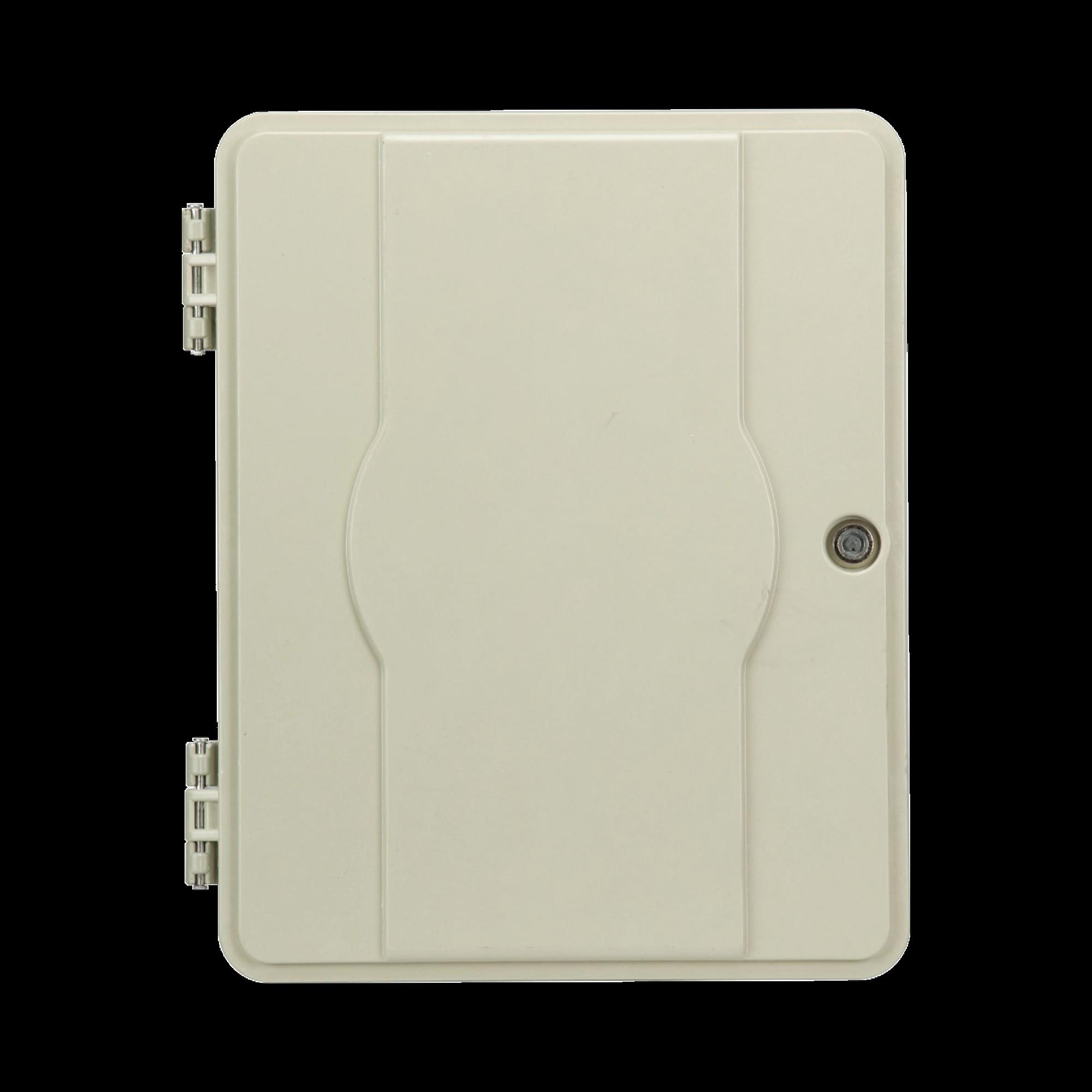 Gabinete Pasivo de Fibra óptica, Acepta Cuatro Placas FPONEAP12, IP55, Montaje en Poste o Pared
