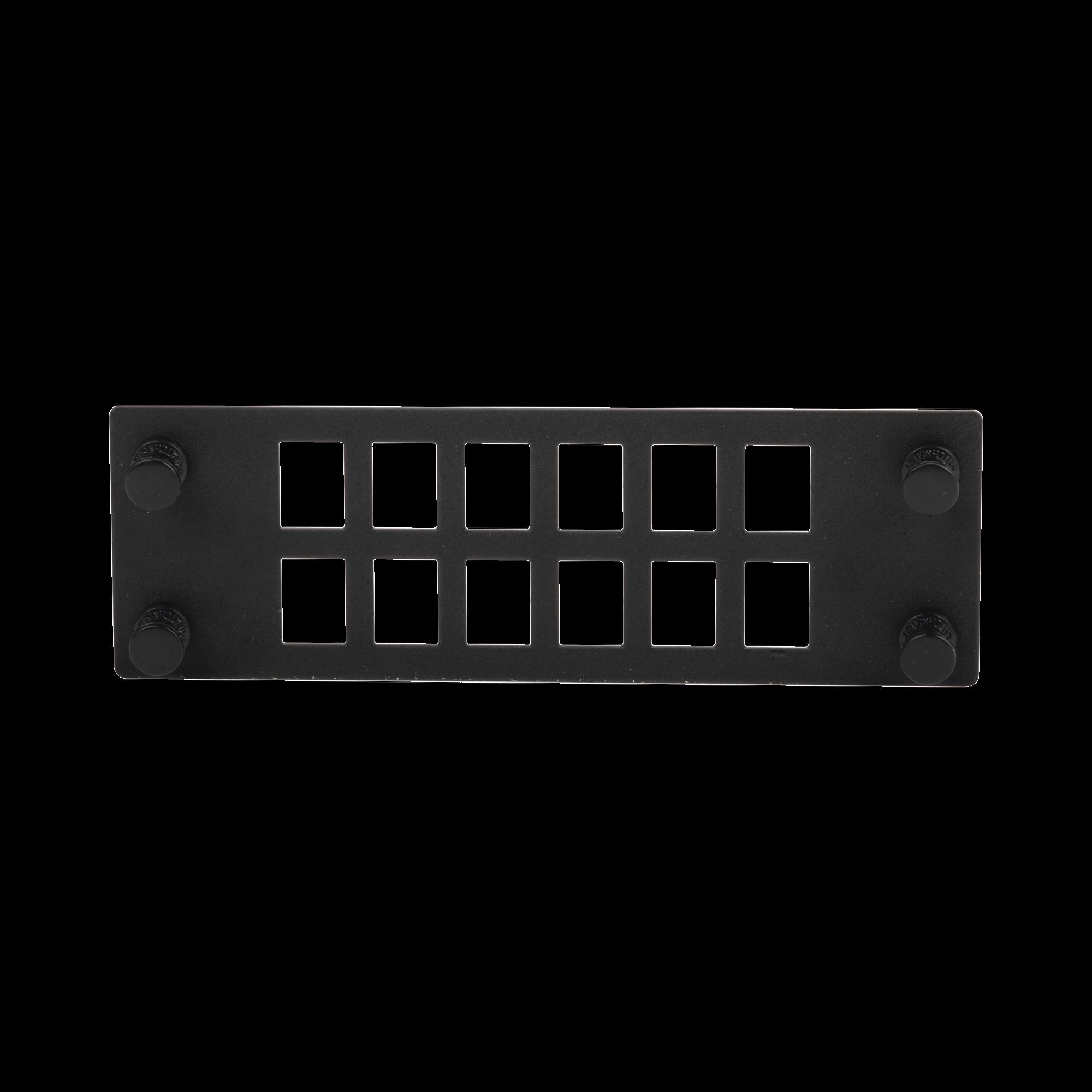 Placa Para 12 Adaptadores de Fibra óptica, Uso con Gabinetes FPONE3 y FPONE4