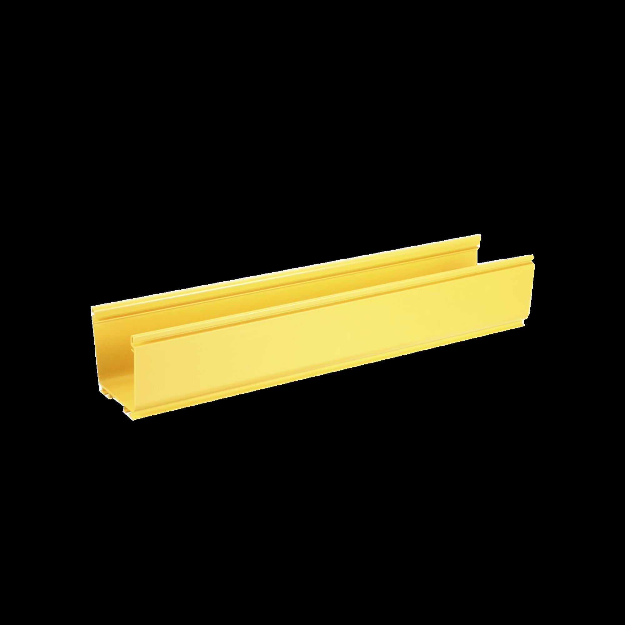 Canaleta FiberRunner? 4X4, de PVC Rigido, Color Amarillo, 1.8 m de Largo