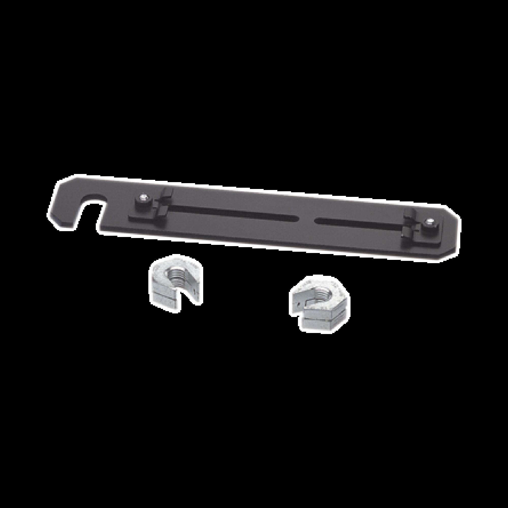 Soporte de Montaje a Techo, para Canaletas FiberRunner 4X4 o 6x4, Uso con Varilla Roscada de 5/8, Color Negro