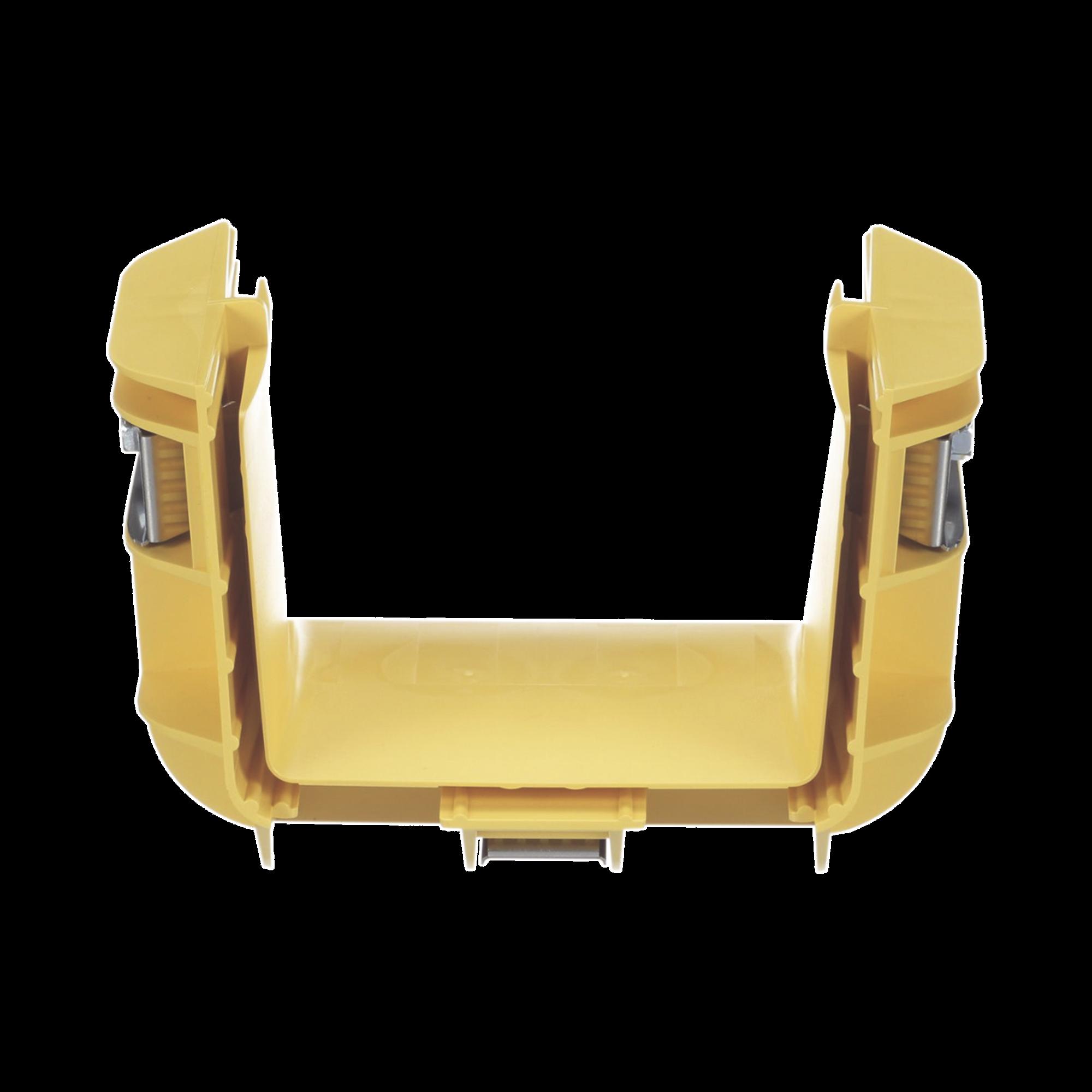 Union Recta Cople, Para Canaleta FiberRunner? 4X4, Color Amarillo