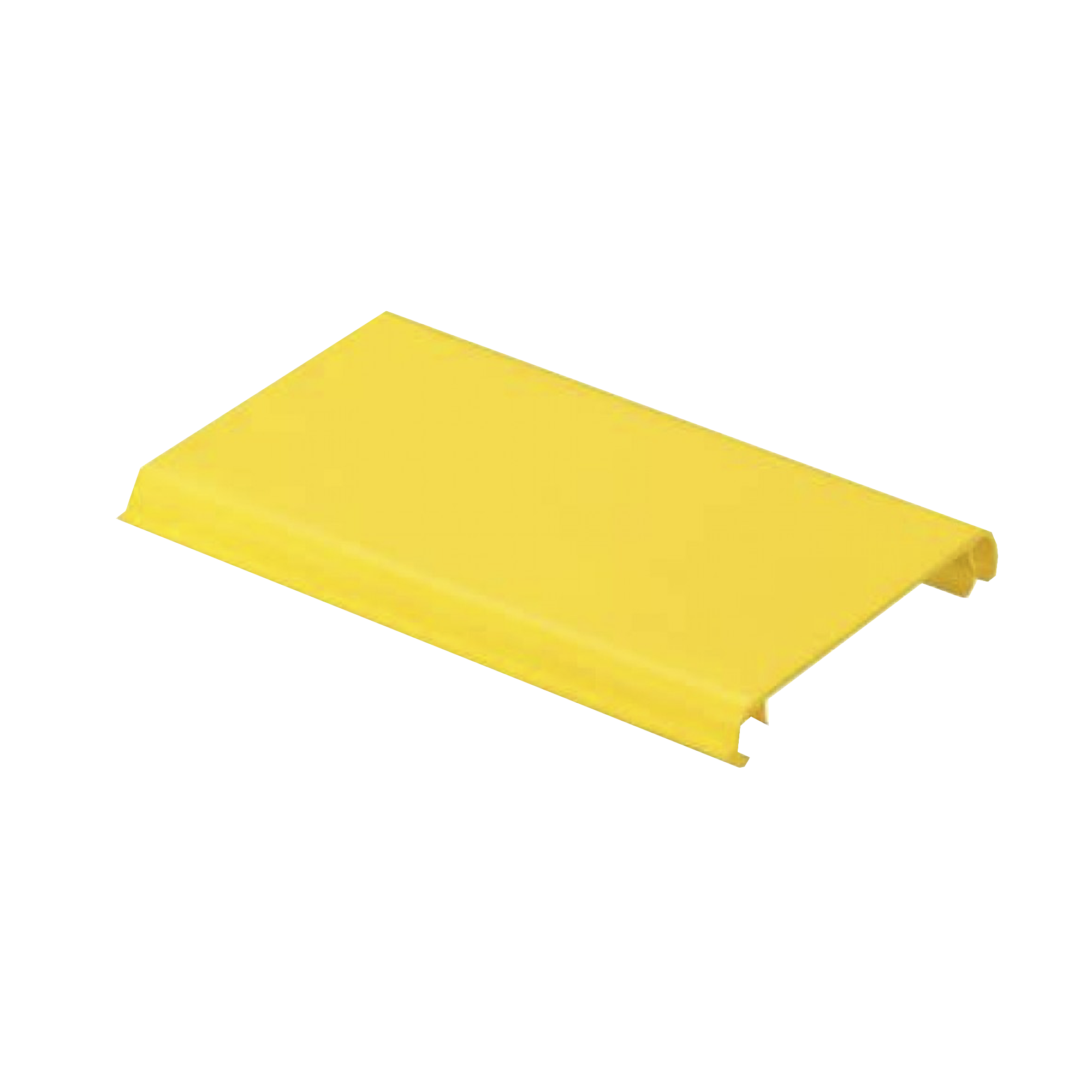 Tapa Con Bisagra a Presion Para Canaleta FiberRunner? FR4X4YL6, de PVC Rigido, Color Amarillo, 1.8 m de Largo