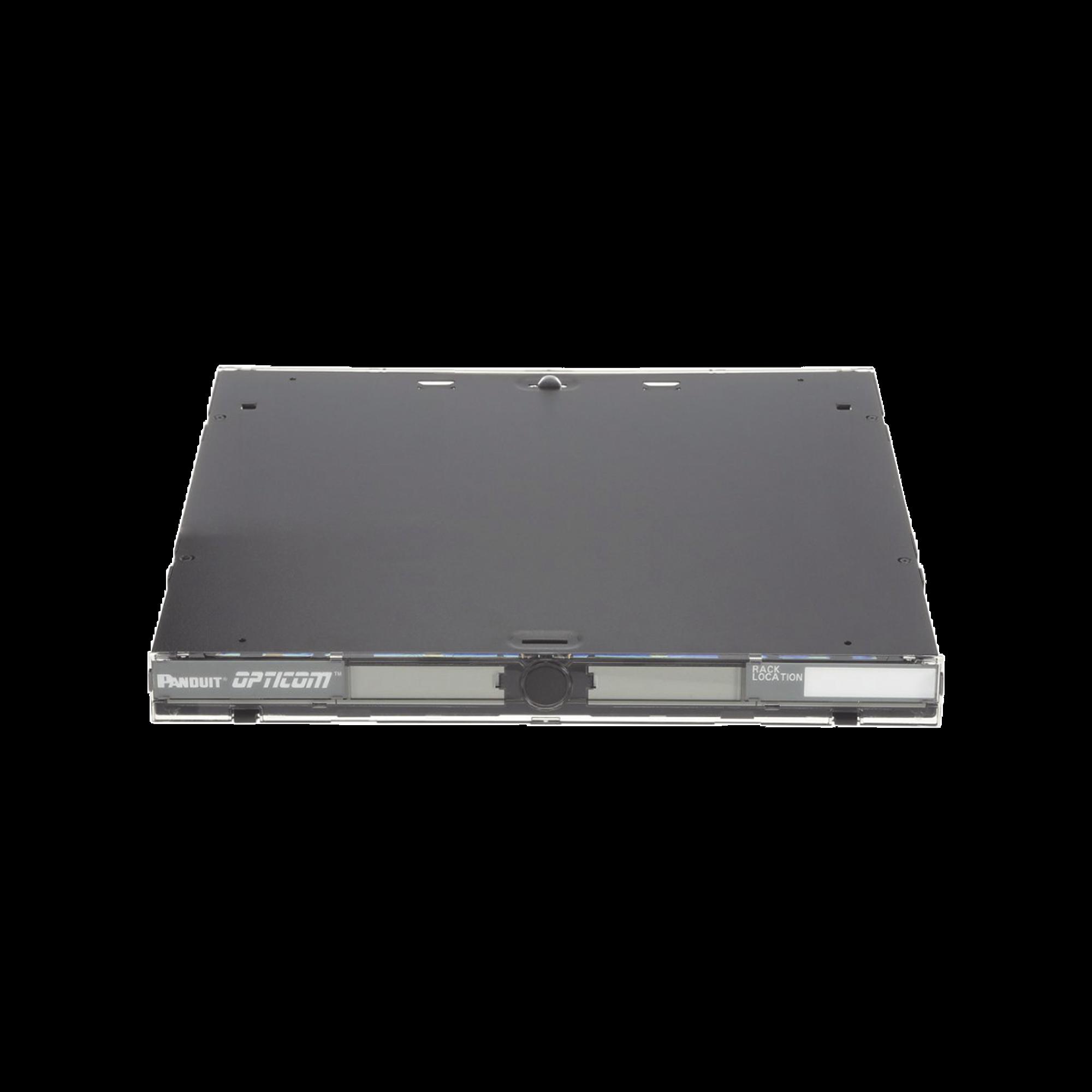 Panel de Distribución de Fibra óptica, Acepta 3 Placas FAP o FMP, Bandeja Deslizable, Hasta 72 Fibras, Color Negro, 1UR