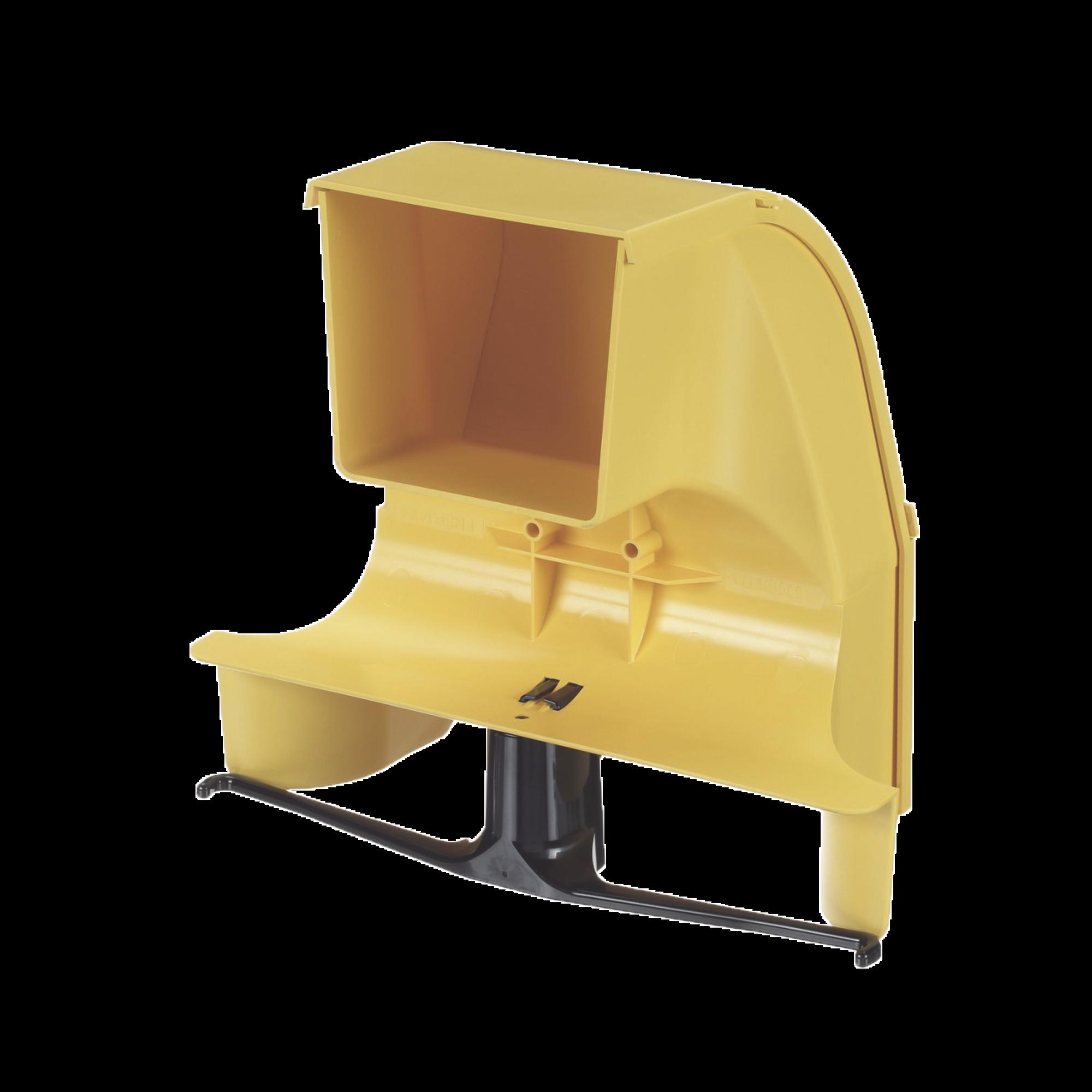 Bajada Para Canaleta FiberRunner?, Uso con Medidas 4x4, 6X4, 12X4, o 24X12, Con Reducción a 4X4, Color Amarillo