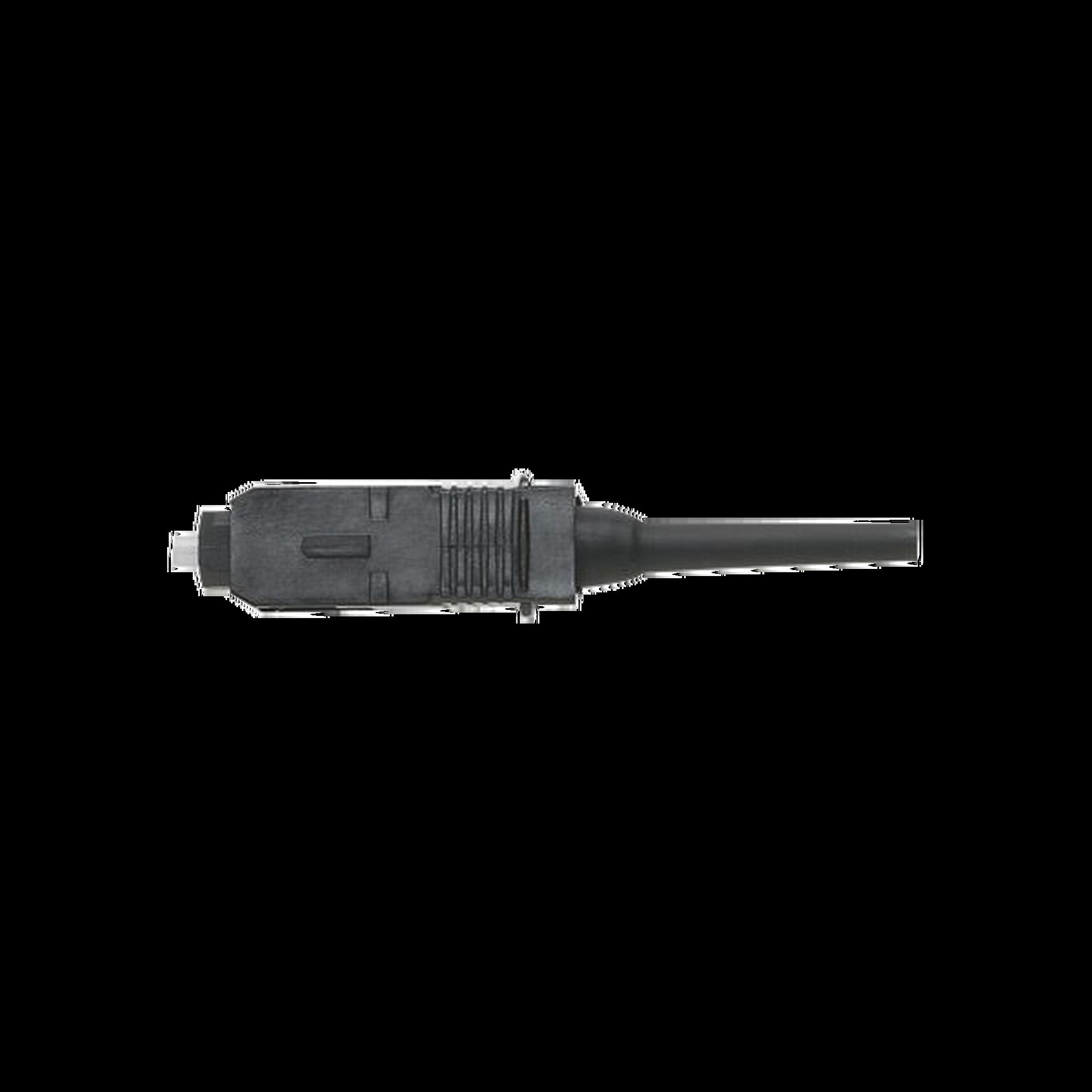 Conector de Fibra Óptica pre-pulido OptiCam SC Simplex, Multimodo 50/125 OM2, Color Negro